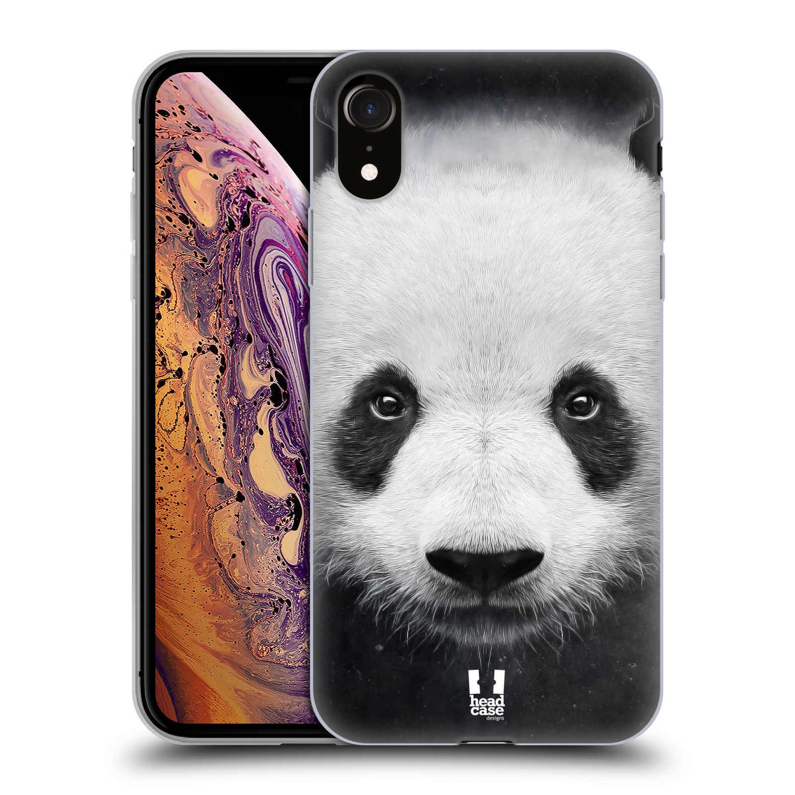 Silikonové pouzdro na mobil Apple iPhone XR - Head Case - TVÁŘ PANDA