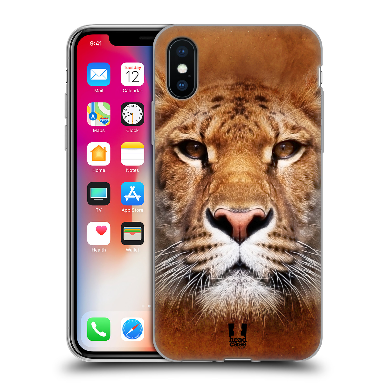 Silikonové pouzdro na mobil Apple iPhone XS - Head Case - TVÁŘ LIGER