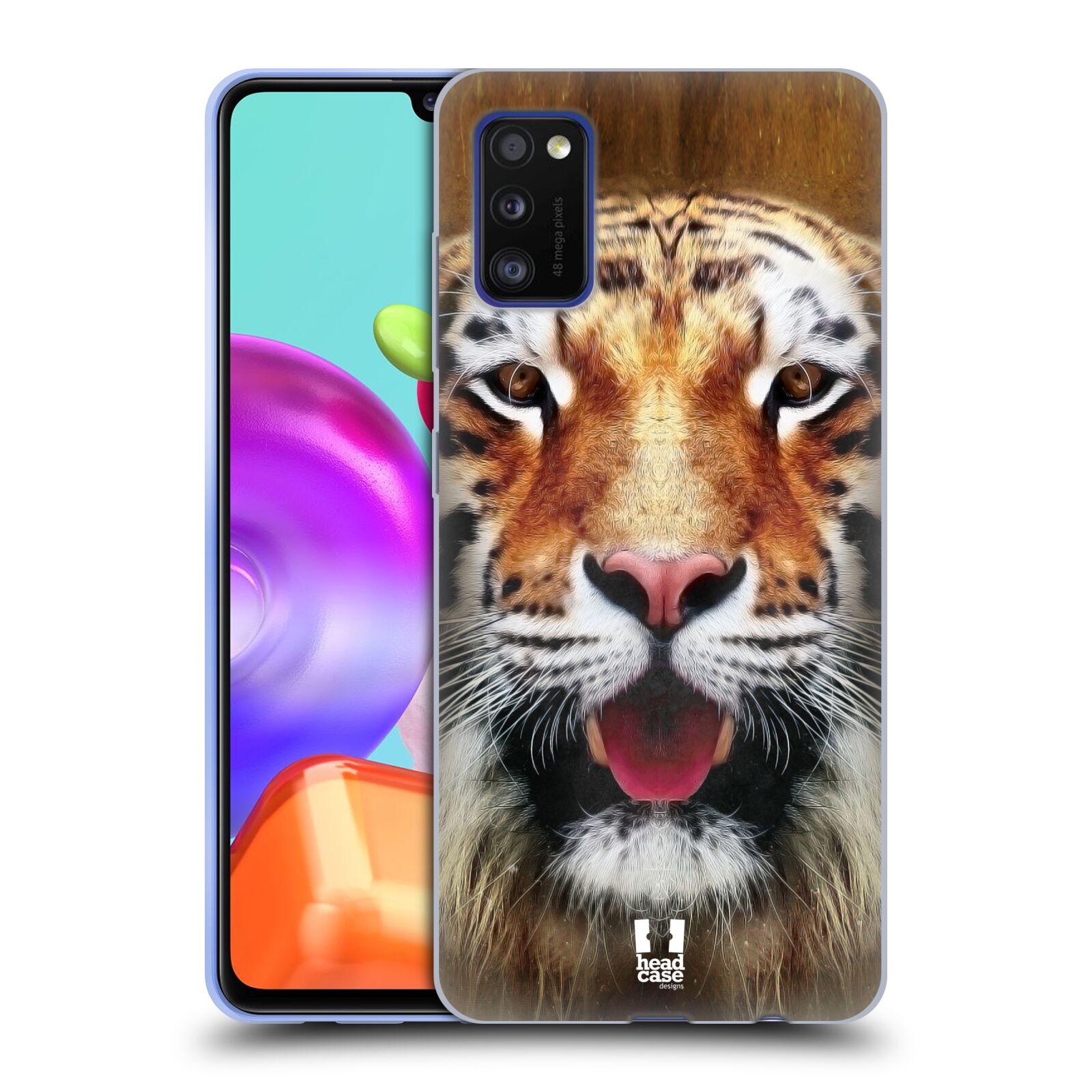 Silikonové pouzdro na mobil Samsung Galaxy A41 - Head Case - TVÁŘ TYGR