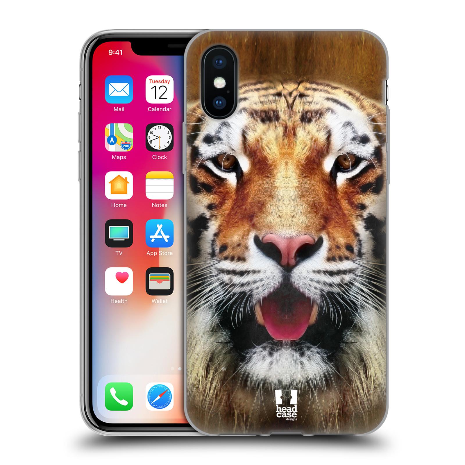 Silikonové pouzdro na mobil Apple iPhone XS - Head Case - TVÁŘ TYGR