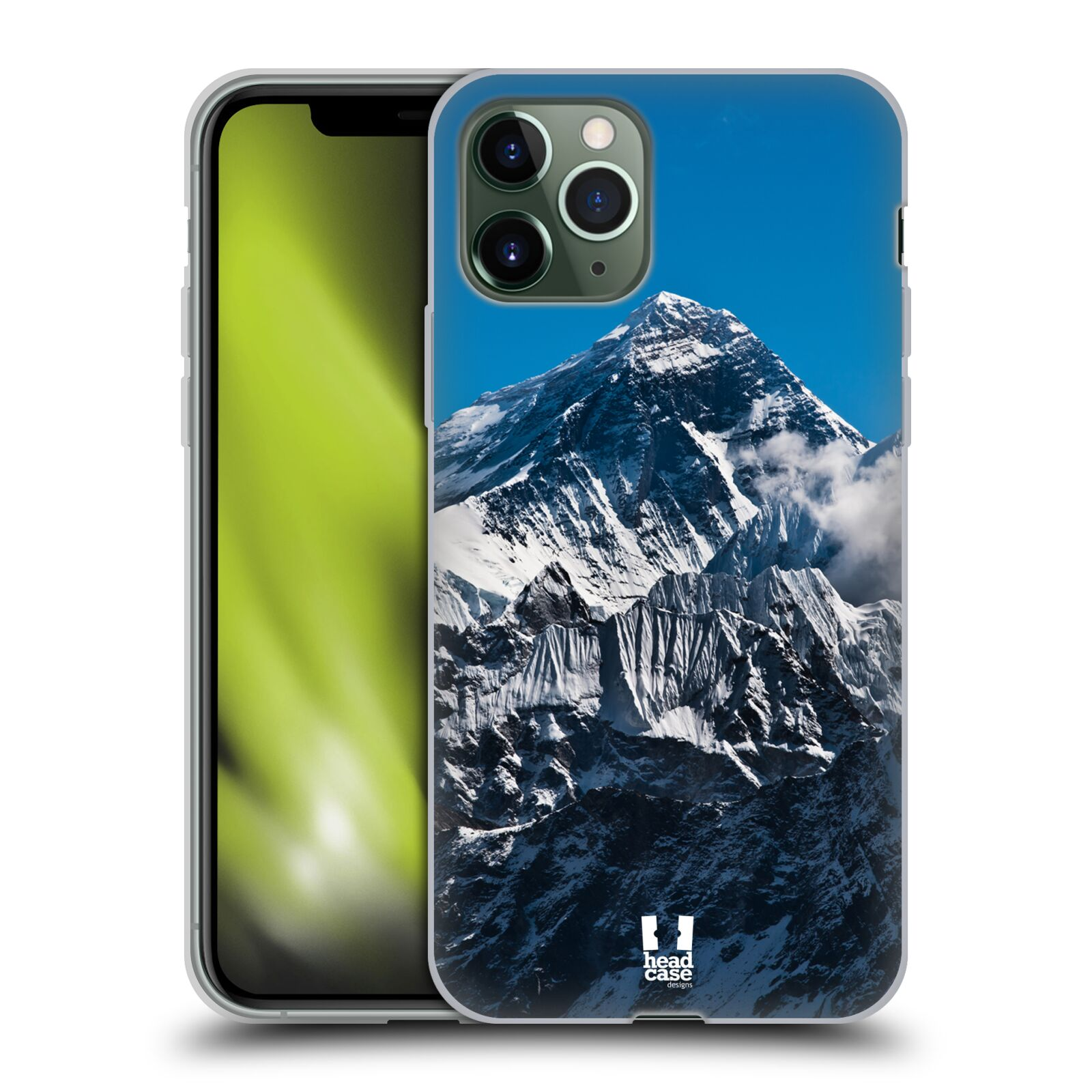 karl krytu na iphone 7 plus | Silikonové pouzdro na mobil Apple iPhone 11 Pro - Head Case - Mount Everest Peak