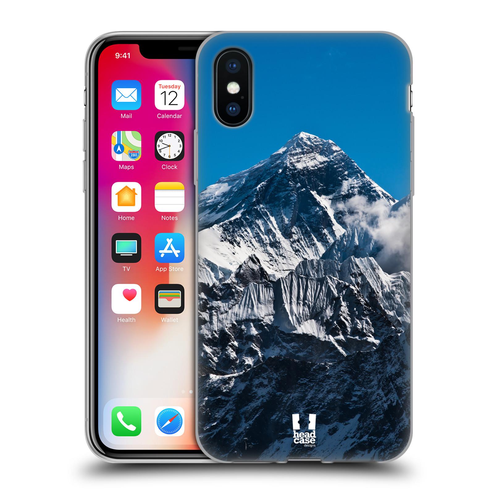 Silikonové pouzdro na mobil Apple iPhone XS - Head Case - Mount Everest Peak