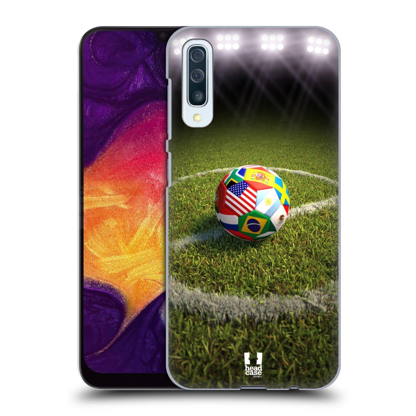 Plastové pouzdro na mobil Samsung Galaxy A50 / A30s - Head Case - FOTBALOVÝ MÍČ ZEMÍ