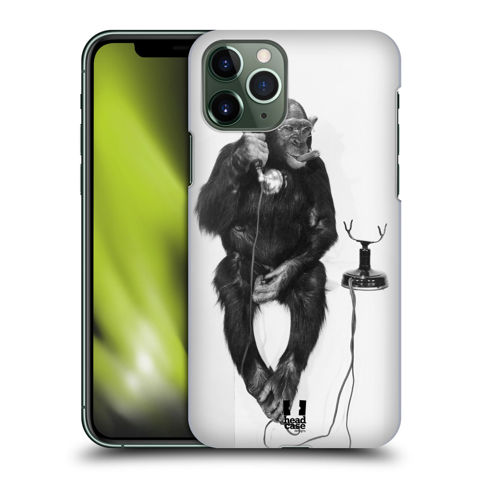 kryt pro iphone x - Plastové pouzdro na mobil Apple iPhone 11 Pro - Head Case - OPIČÁK S TELEFONEM