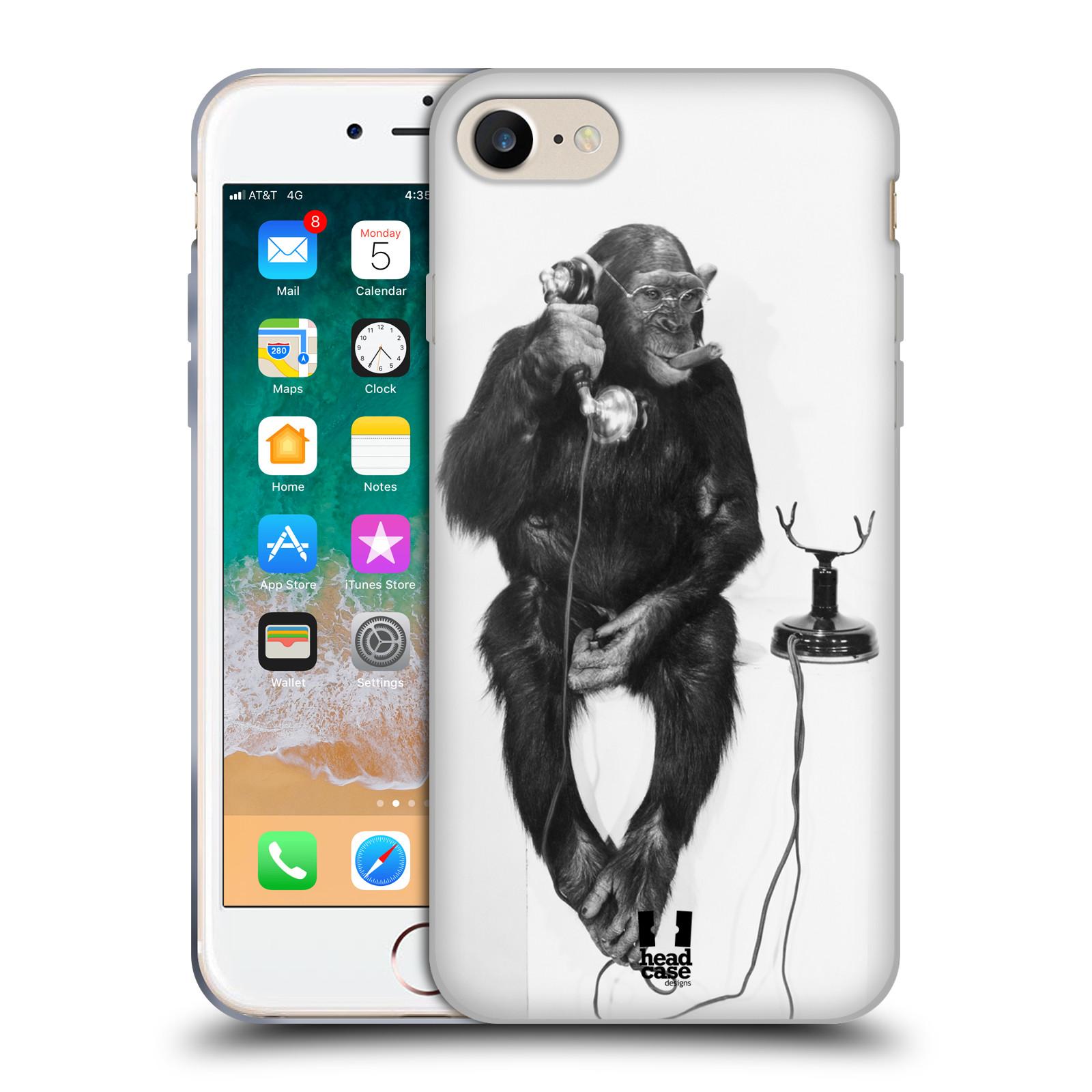 Silikonové pouzdro na mobil Apple iPhone SE (2020) - Head Case - OPIČÁK S TELEFONEM