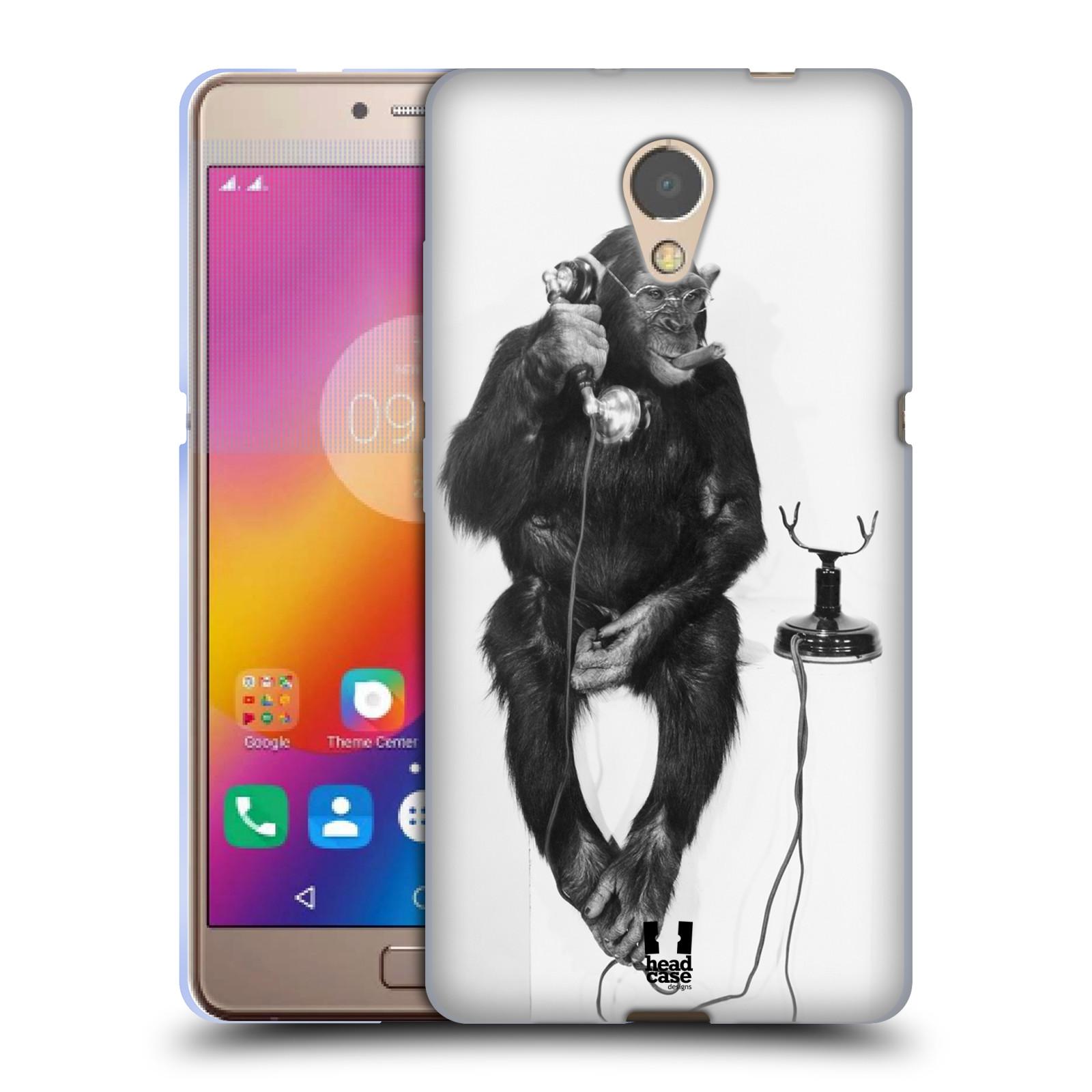 Silikonové pouzdro na mobil Lenovo P2 - Head Case - OPIČÁK S TELEFONEM (Silikonový kryt či obal na mobilní telefon Lenovo P2 Dual Sim s motivem OPIČÁK S TELEFONEM)
