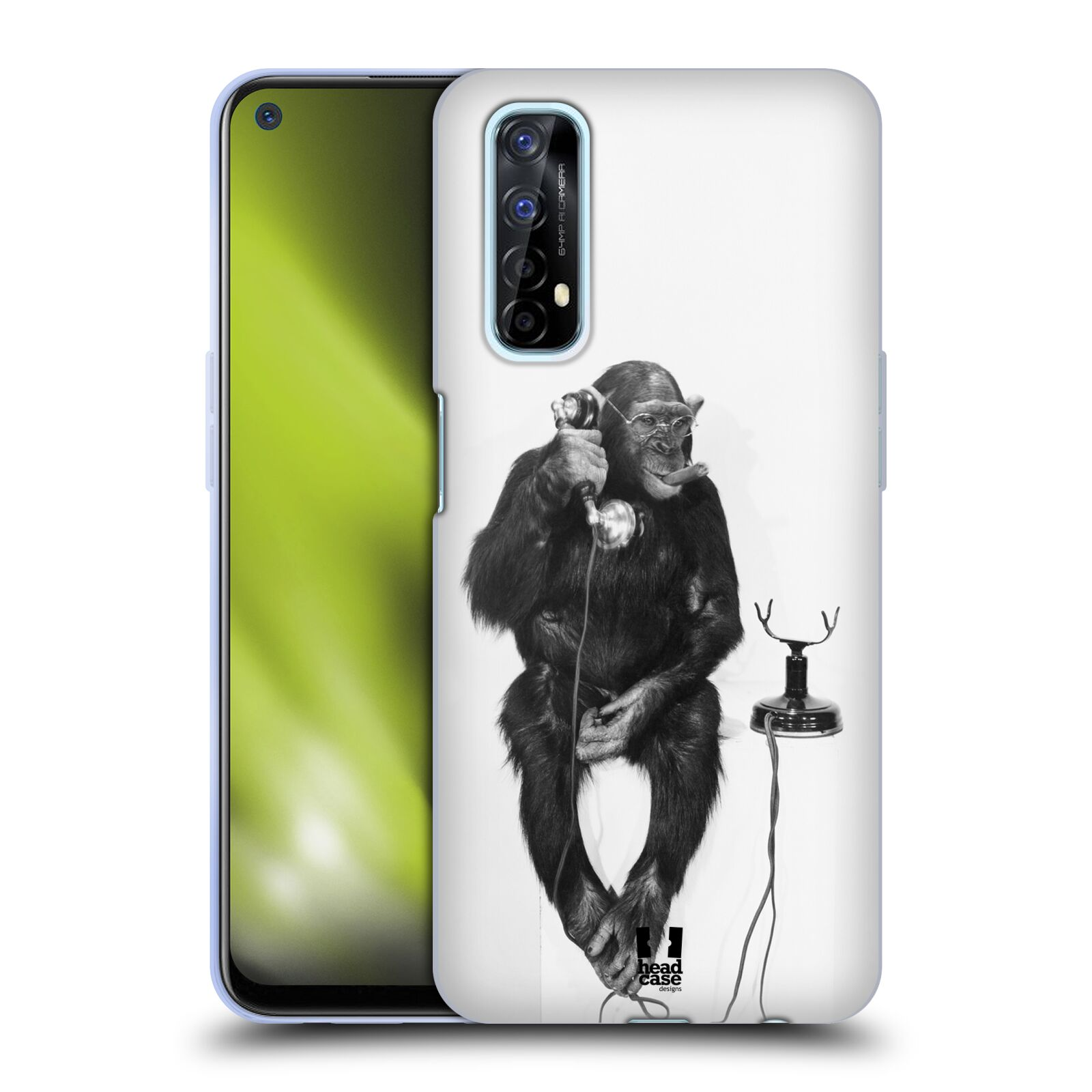 Silikonové pouzdro na mobil Realme 7 - Head Case - OPIČÁK S TELEFONEM