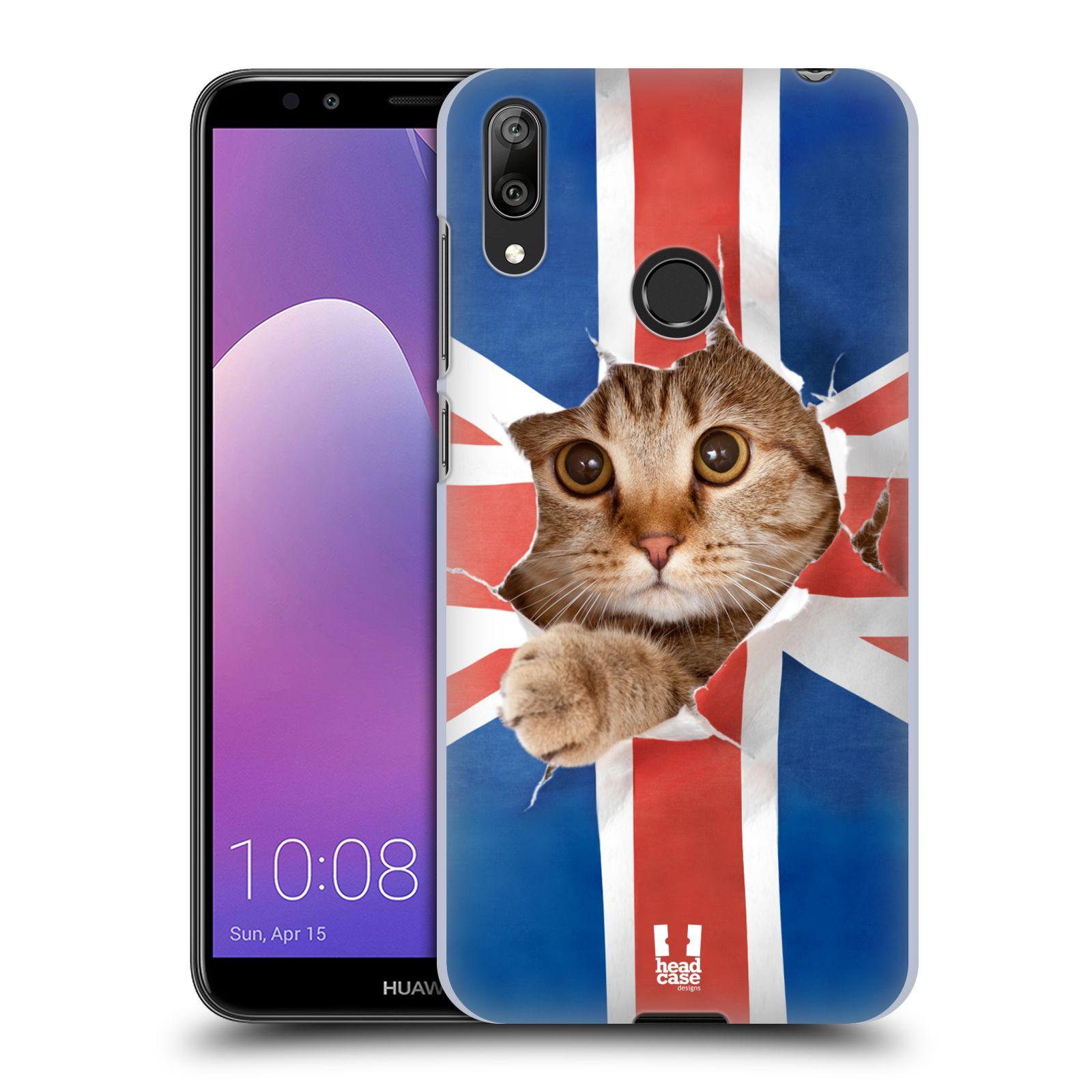 Plastové pouzdro na mobil Huawei Y7 (2019) - Head Case - KOČKA A VLAJKA