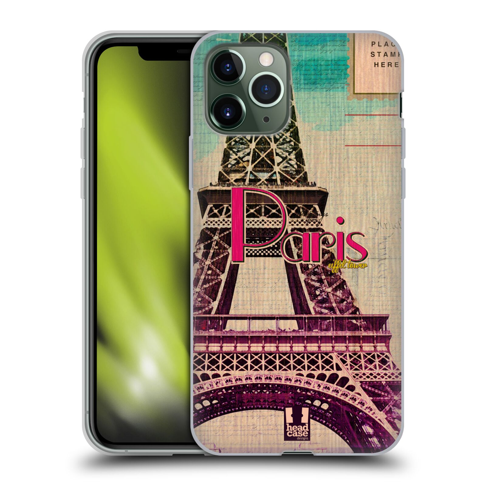 iphone 7 32gb obal - Silikonové pouzdro na mobil Apple iPhone 11 Pro - Head Case - PARIS VINTAGE