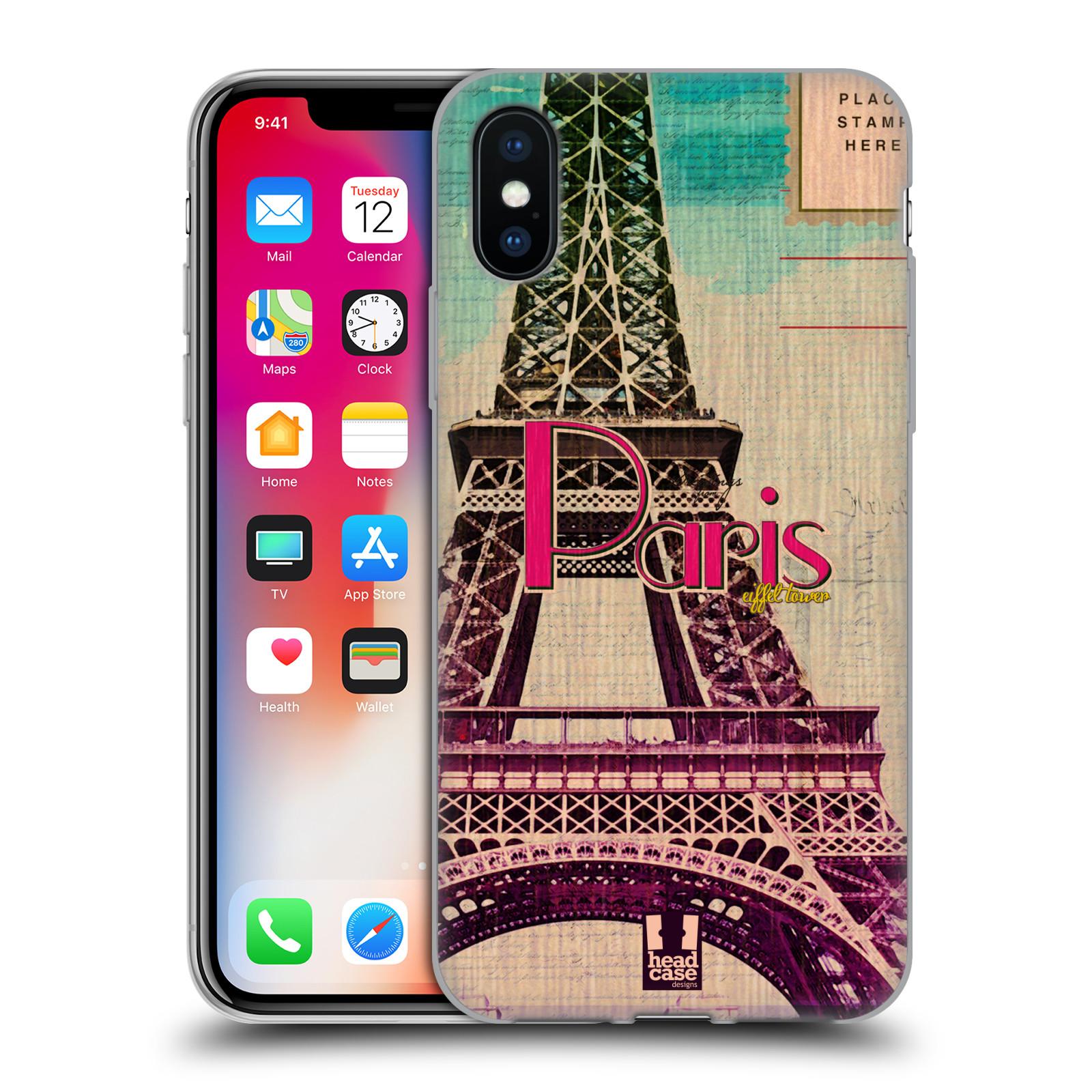Silikonové pouzdro na mobil Apple iPhone XS - Head Case - PARIS VINTAGE