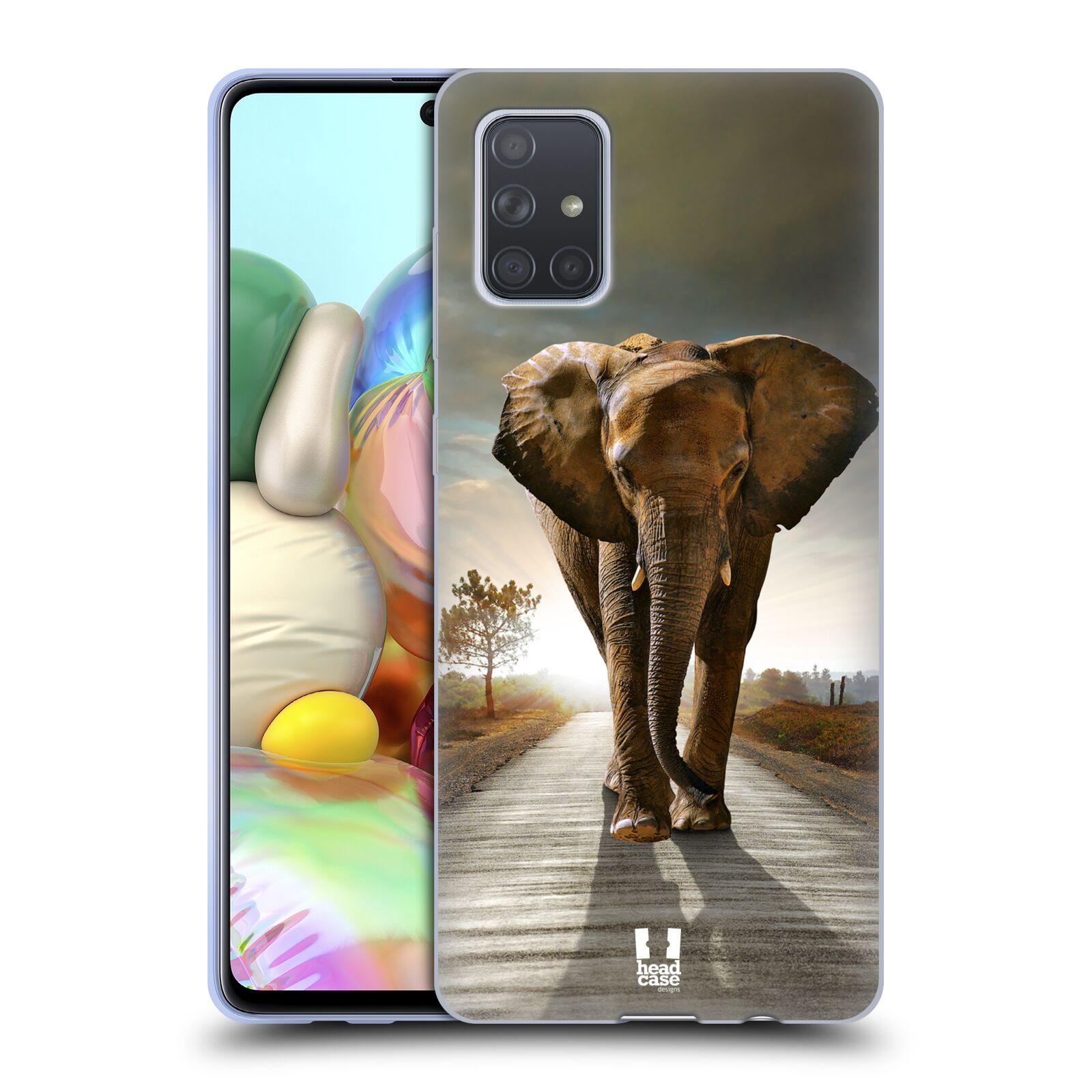 Silikonové pouzdro na mobil Samsung Galaxy A71 - Head Case - DIVOČINA – SLON