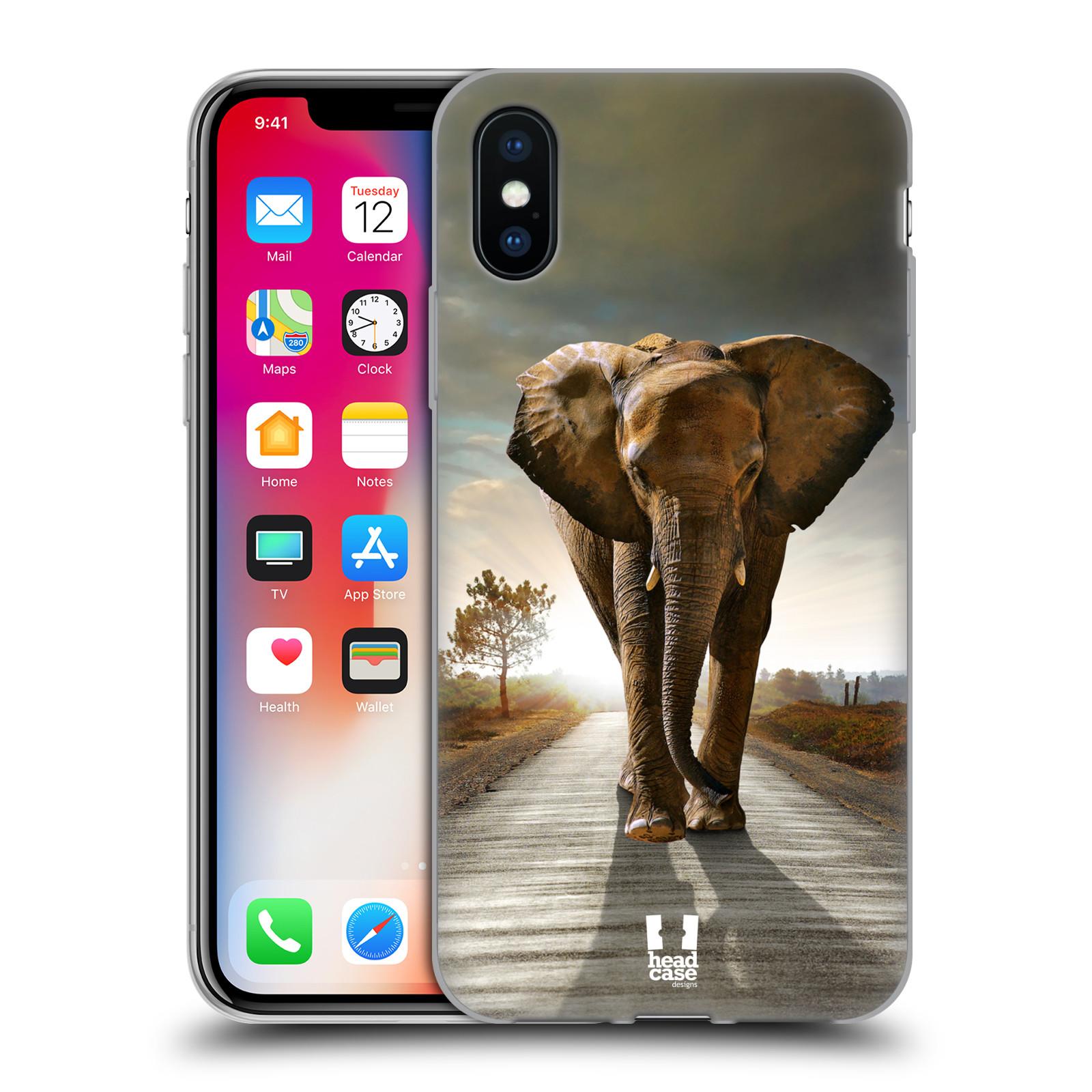 Silikonové pouzdro na mobil Apple iPhone XS - Head Case - DIVOČINA – SLON