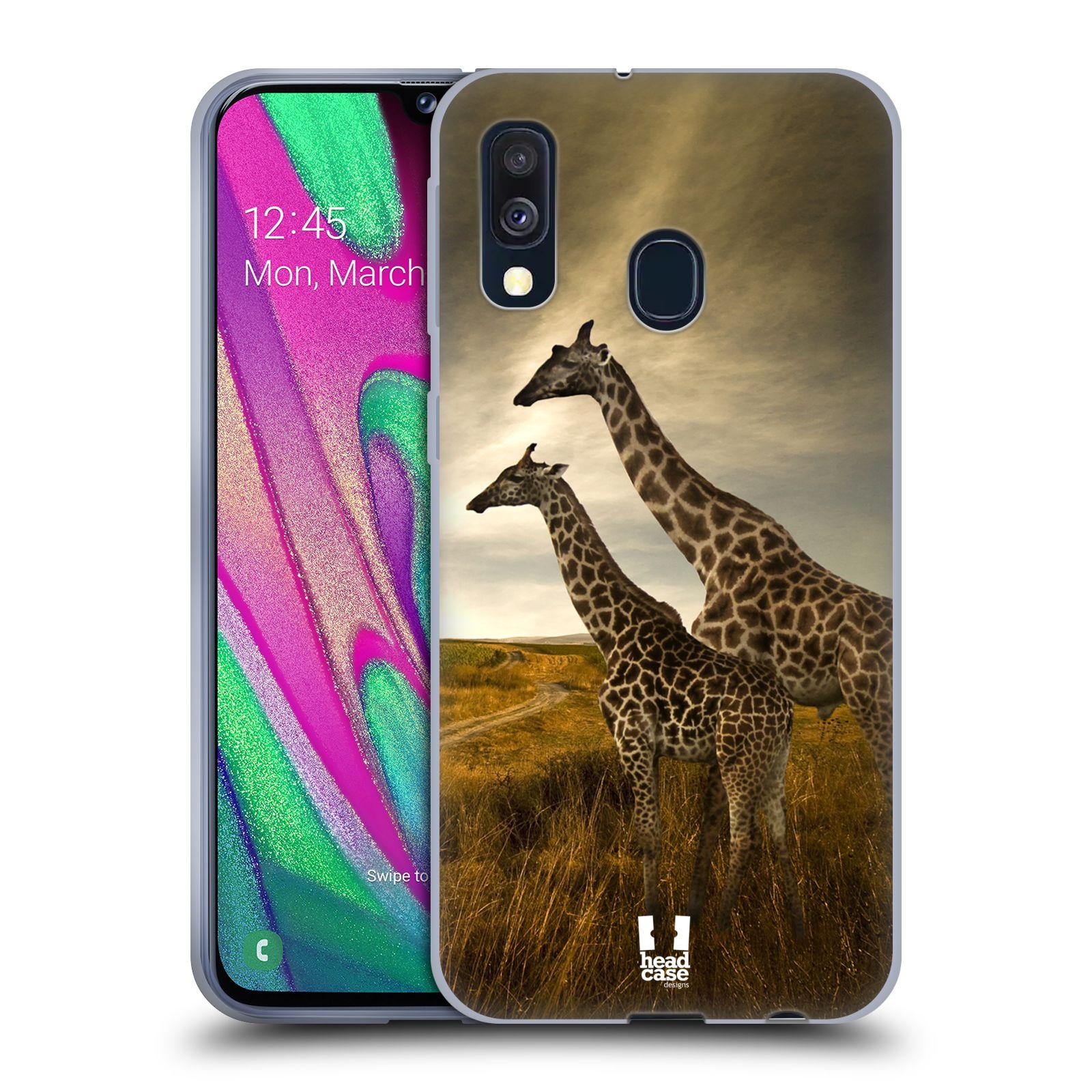 Silikonové pouzdro na mobil Samsung Galaxy A40 - Head Case - DIVOČINA – ŽIRAFY