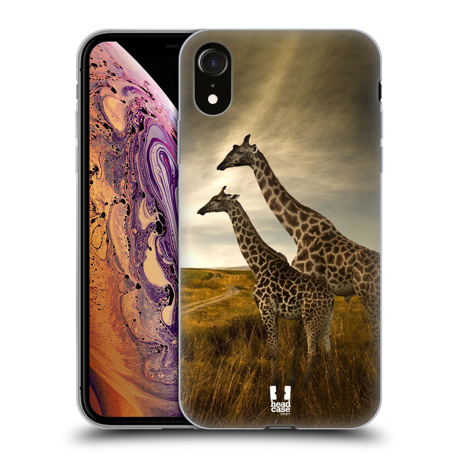 Silikonové pouzdro na mobil Apple iPhone XR - Head Case - DIVOČINA – ŽIRAFY