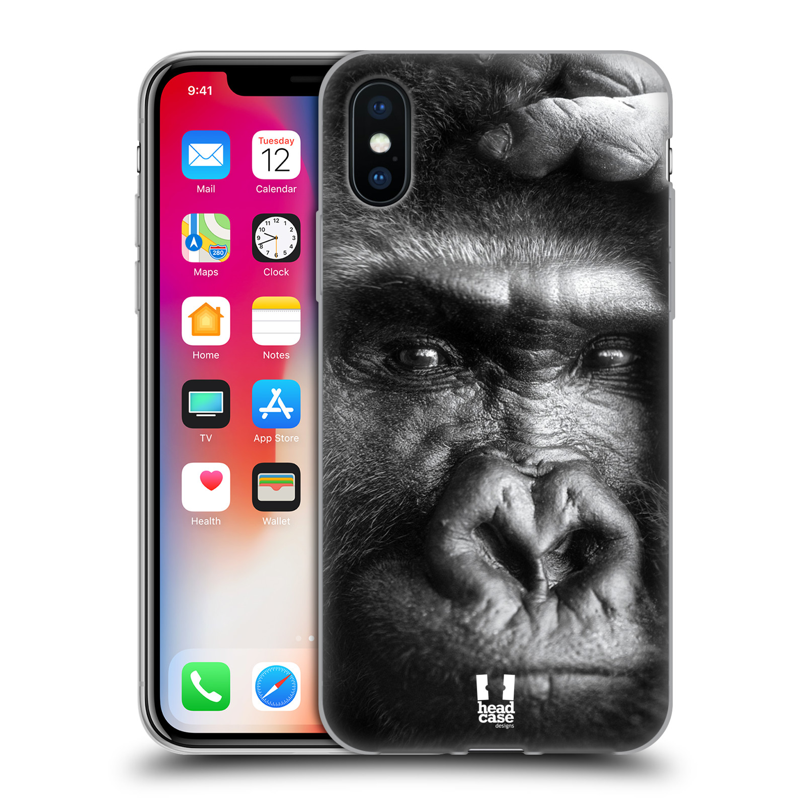 Silikonové pouzdro na mobil Apple iPhone XS - Head Case - DIVOČINA – GORILA
