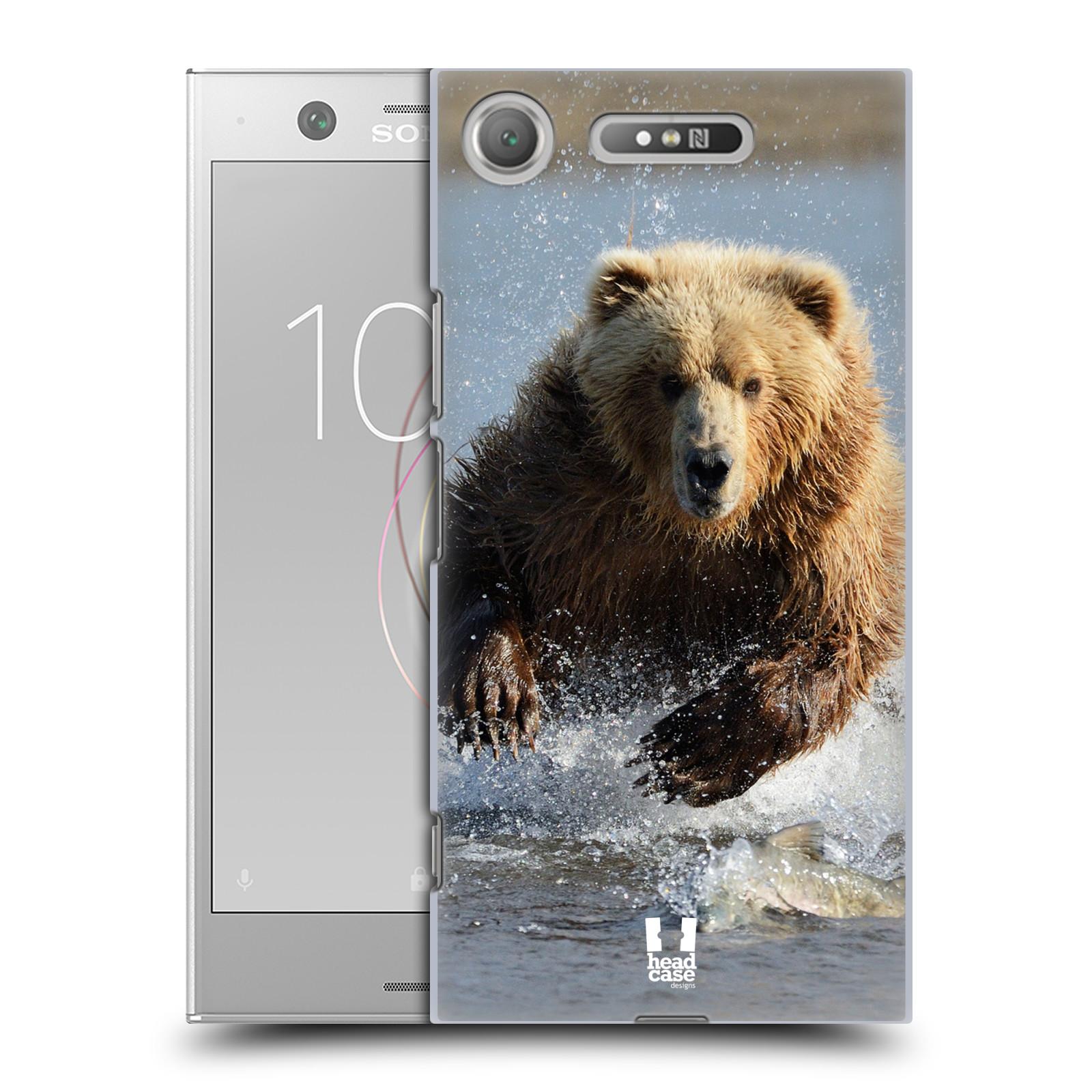 Plastové pouzdro na mobil Sony Xperia XZ1 - Head Case - DIVOČINA – GRIZZLY