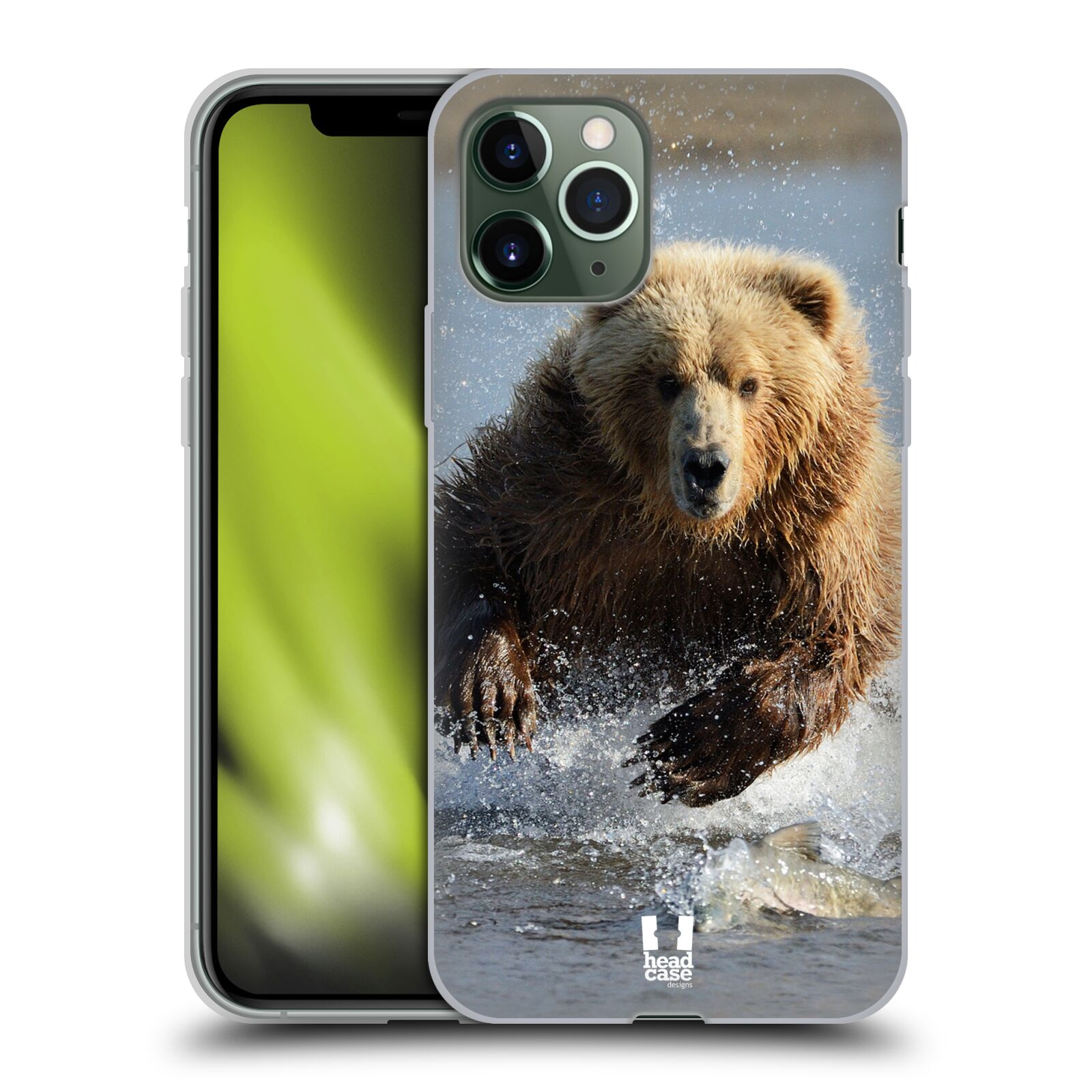 gucci iphone x skal - Silikonové pouzdro na mobil Apple iPhone 11 Pro - Head Case - DIVOČINA – GRIZZLY