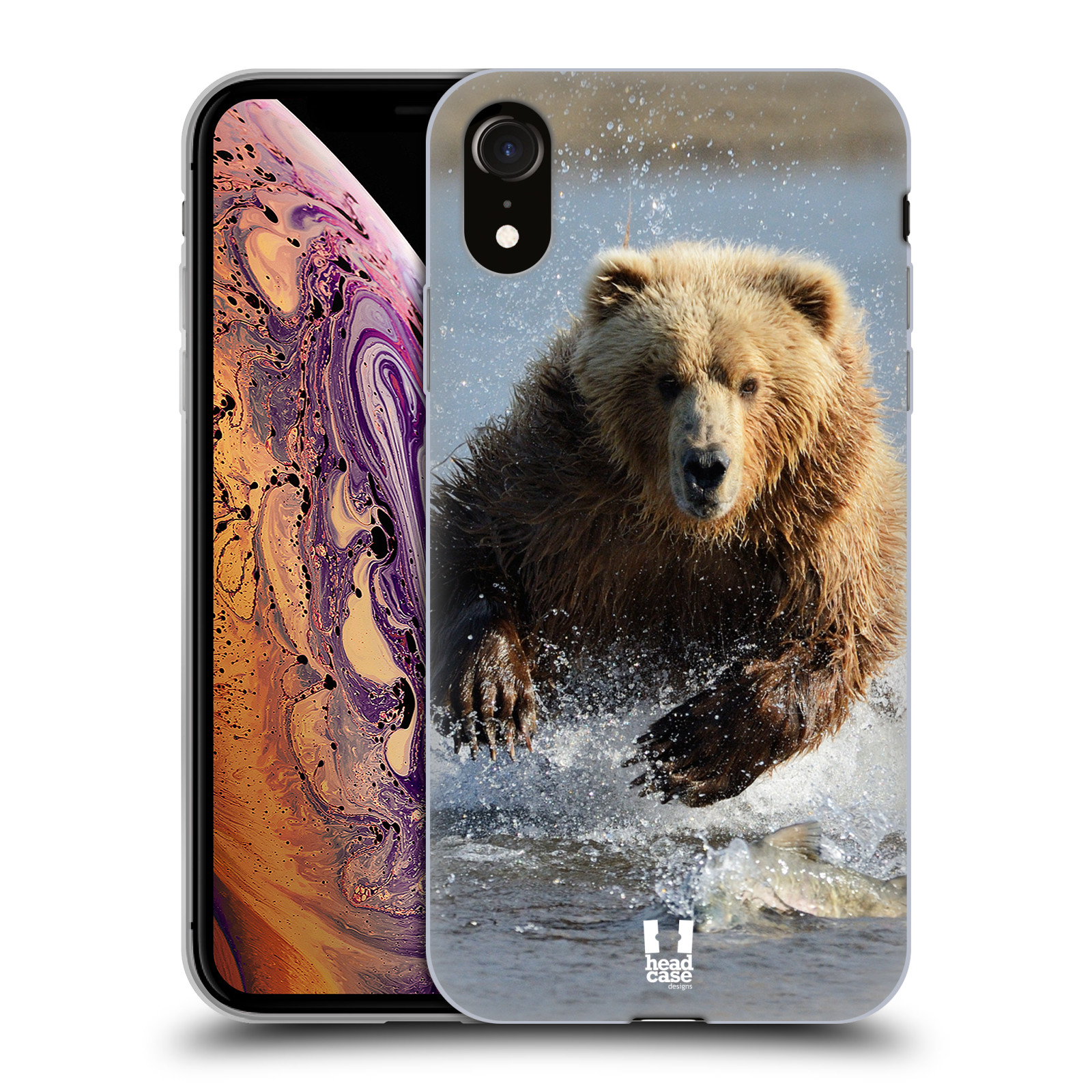 Silikonové pouzdro na mobil Apple iPhone XR - Head Case - DIVOČINA – GRIZZLY