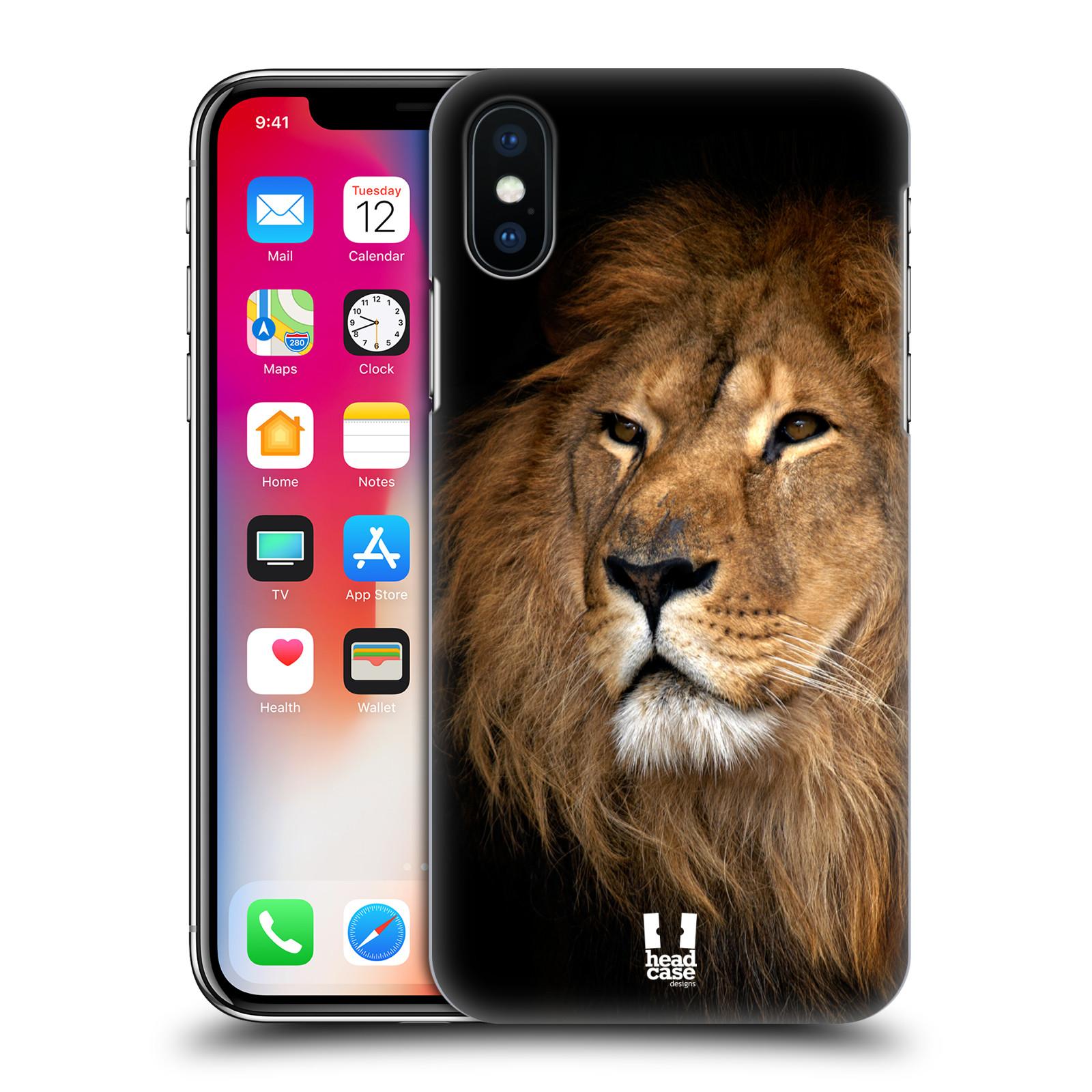 Plastové pouzdro na mobil Apple iPhone X - Head Case - DIVOČINA – LEV