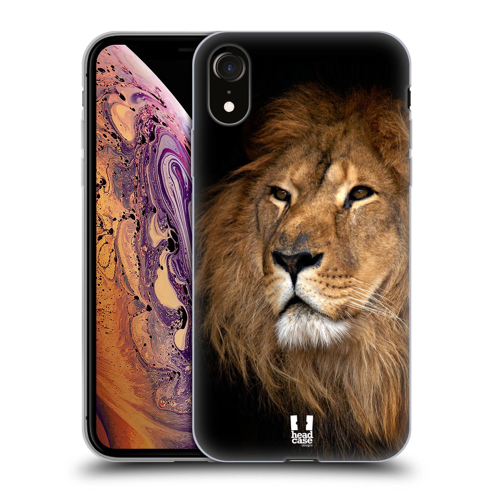 Silikonové pouzdro na mobil Apple iPhone XR - Head Case - DIVOČINA – LEV