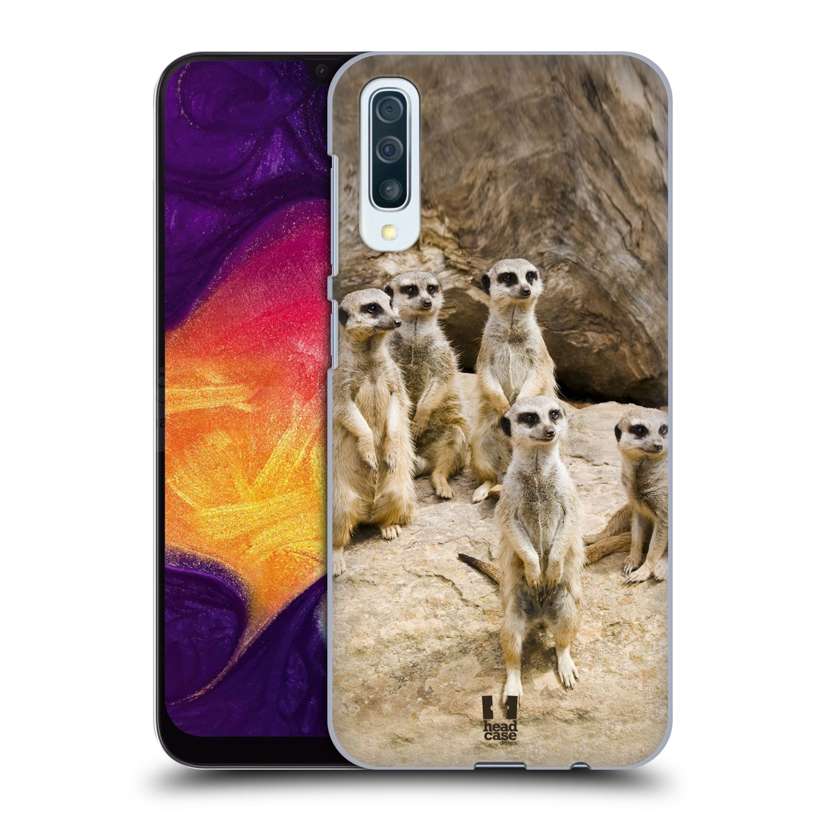 Plastové pouzdro na mobil Samsung Galaxy A50 / A30s - Head Case - DIVOČINA – SURIKATY