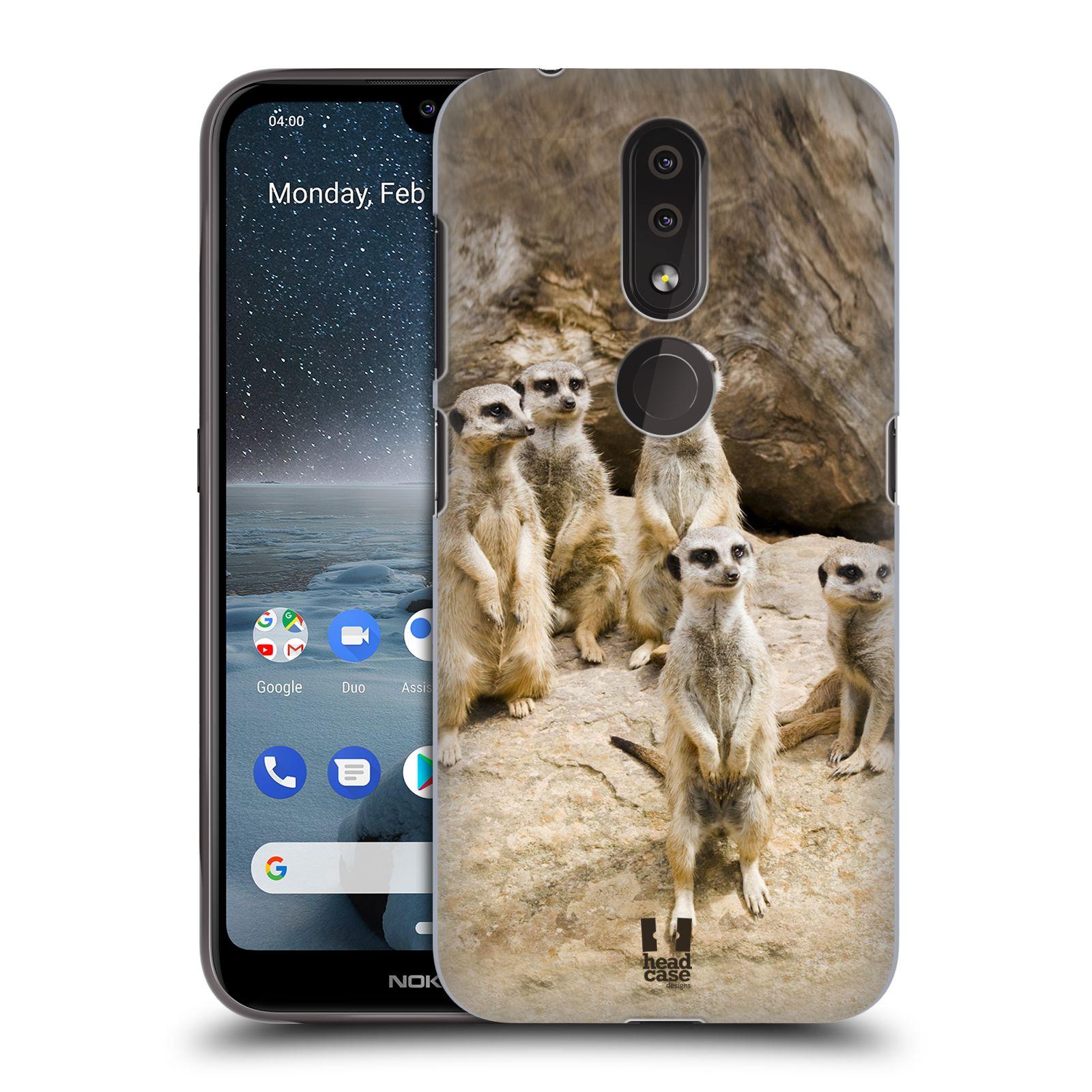 Plastové pouzdro na mobil Nokia 4.2 - Head Case - DIVOČINA – SURIKATY