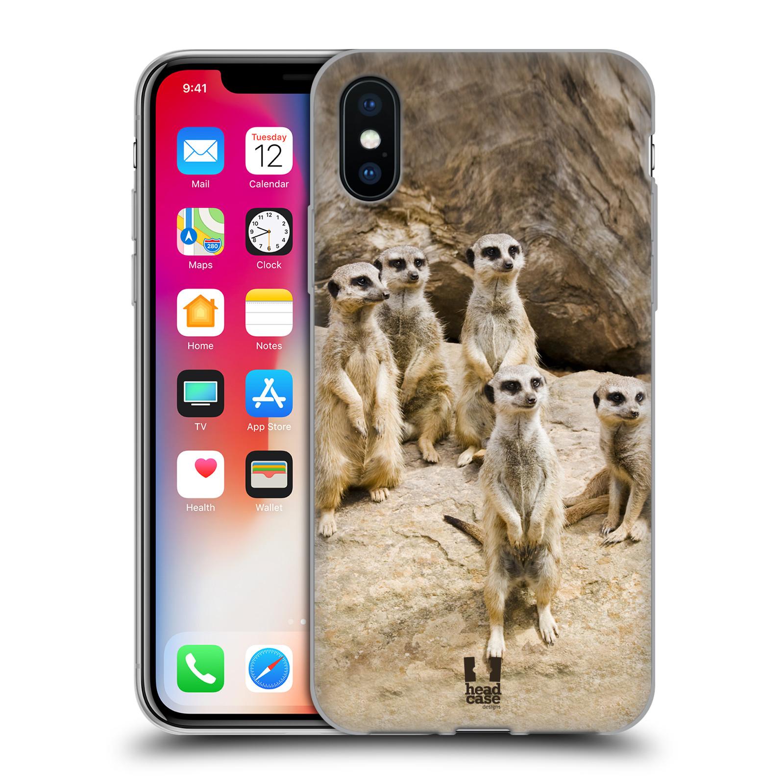 Silikonové pouzdro na mobil Apple iPhone XS - Head Case - DIVOČINA – SURIKATY