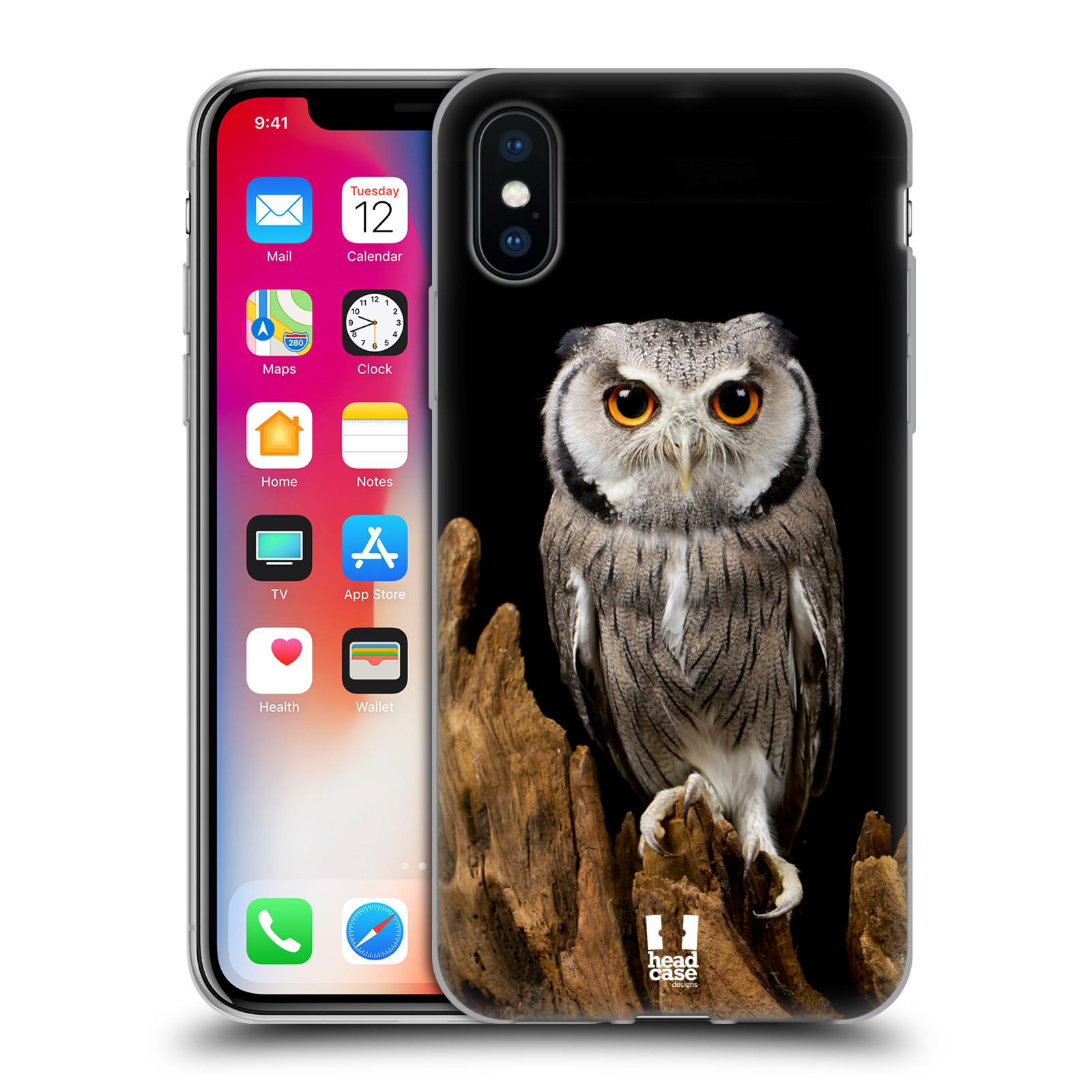 Silikonové pouzdro na mobil Apple iPhone XS - Head Case - DIVOČINA – SOVA