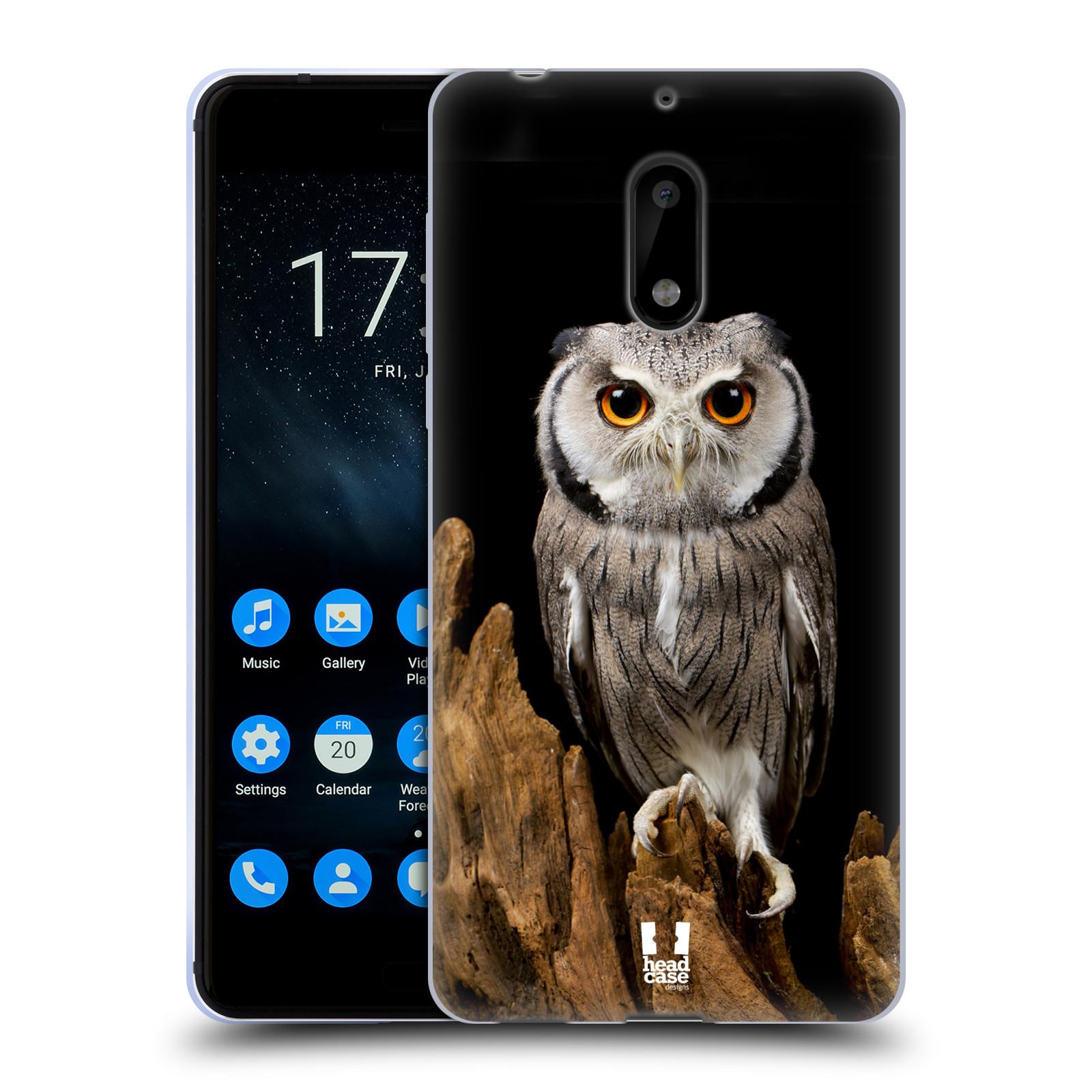 Silikonové pouzdro na mobil Nokia 6 - Head Case - DIVOČINA – SOVA