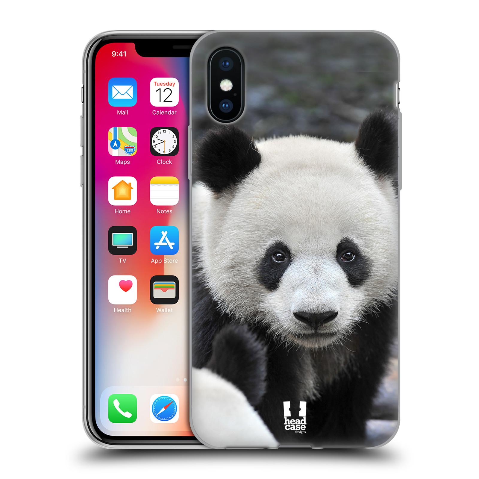 Silikonové pouzdro na mobil Apple iPhone XS - Head Case - DIVOČINA – PANDA