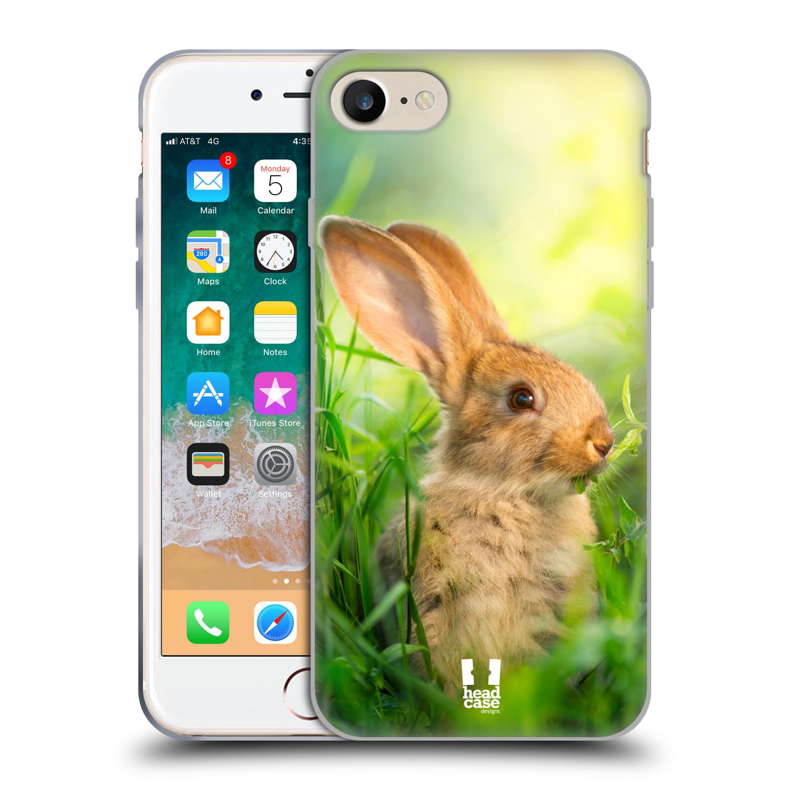 Silikonové pouzdro na mobil Apple iPhone SE (2020) - Head Case - DIVOČINA – KRÁLÍČEK