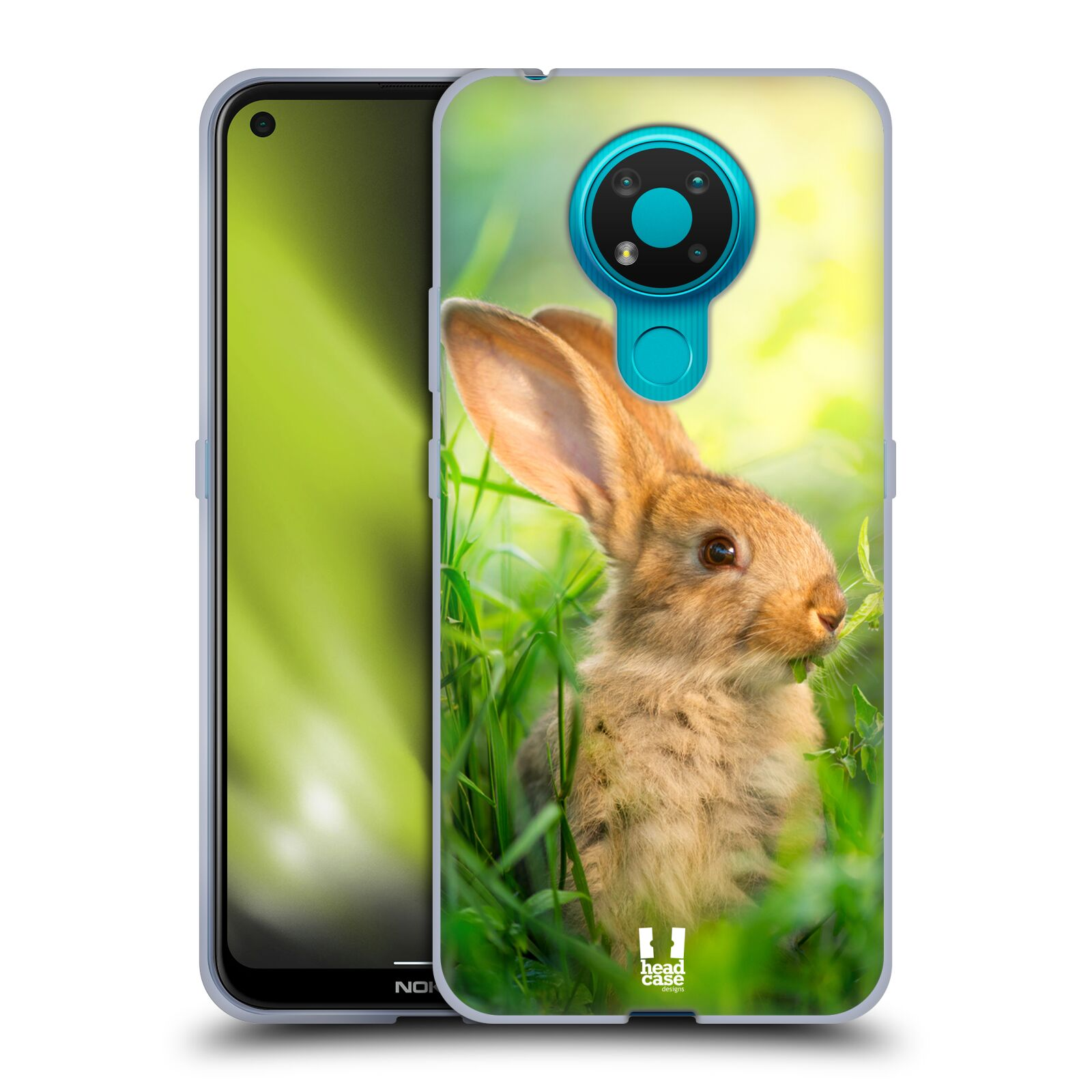Silikonové pouzdro na mobil Nokia 3.4 - Head Case - DIVOČINA – KRÁLÍČEK