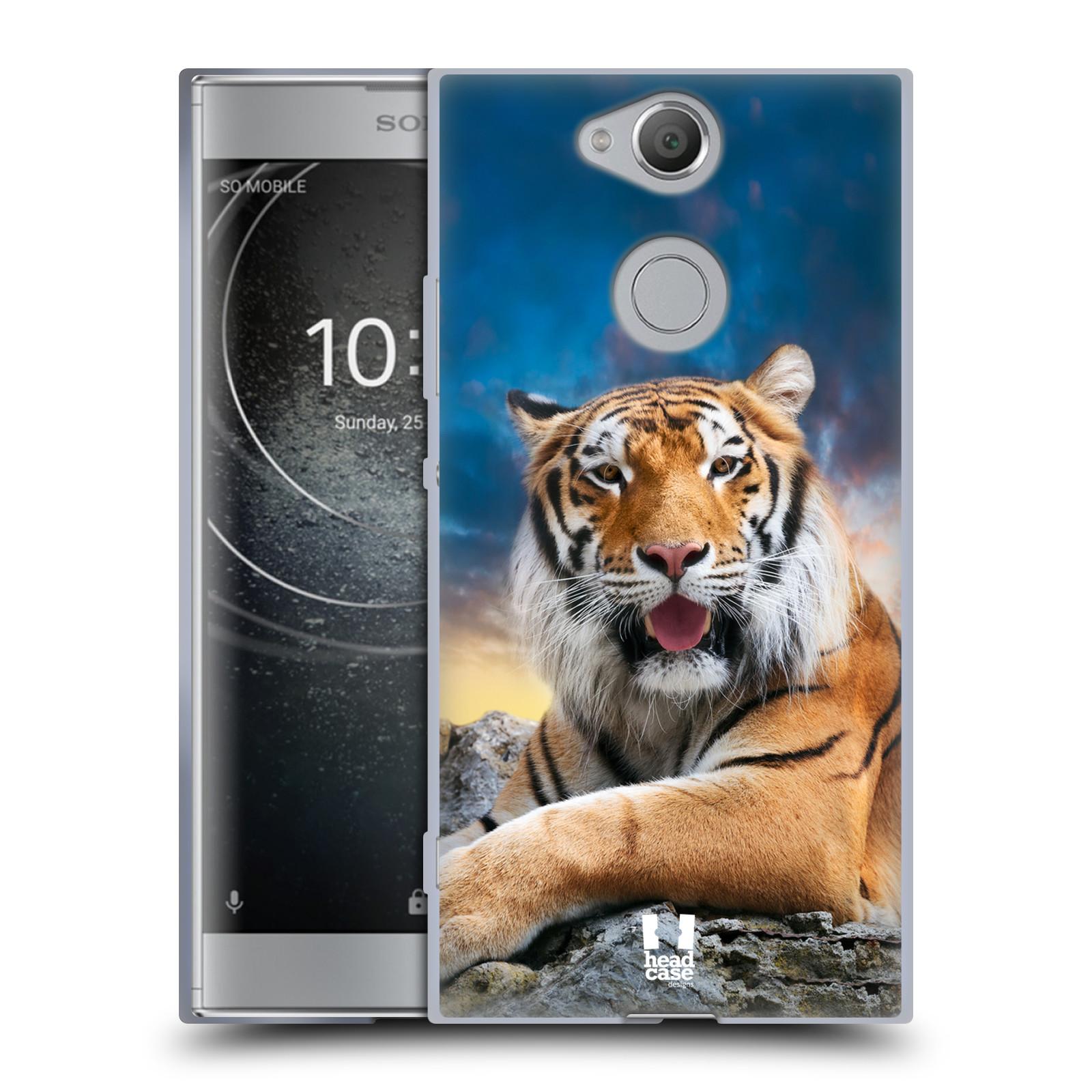 Silikonové pouzdro na mobil Sony Xperia XA2 - Head Case - DIVOČINA – TYGR