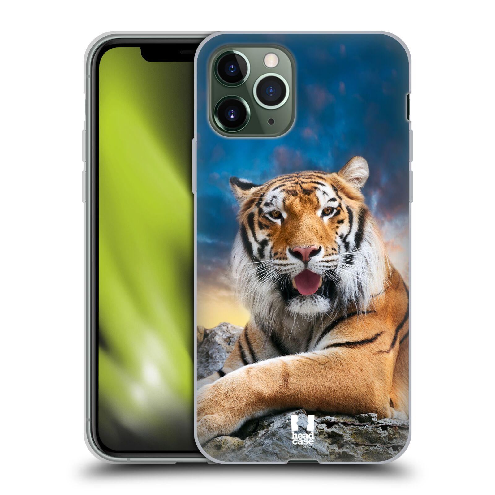 obal apple iphone 7 plus , Silikonové pouzdro na mobil Apple iPhone 11 Pro - Head Case - DIVOČINA – TYGR