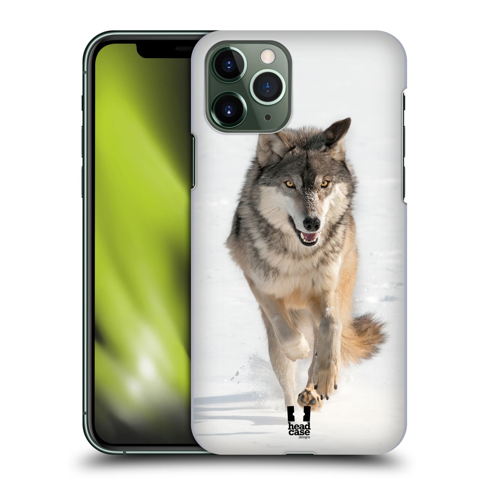 iphone magneticky obal - Plastové pouzdro na mobil Apple iPhone 11 Pro - Head Case - DIVOČINA – VLK