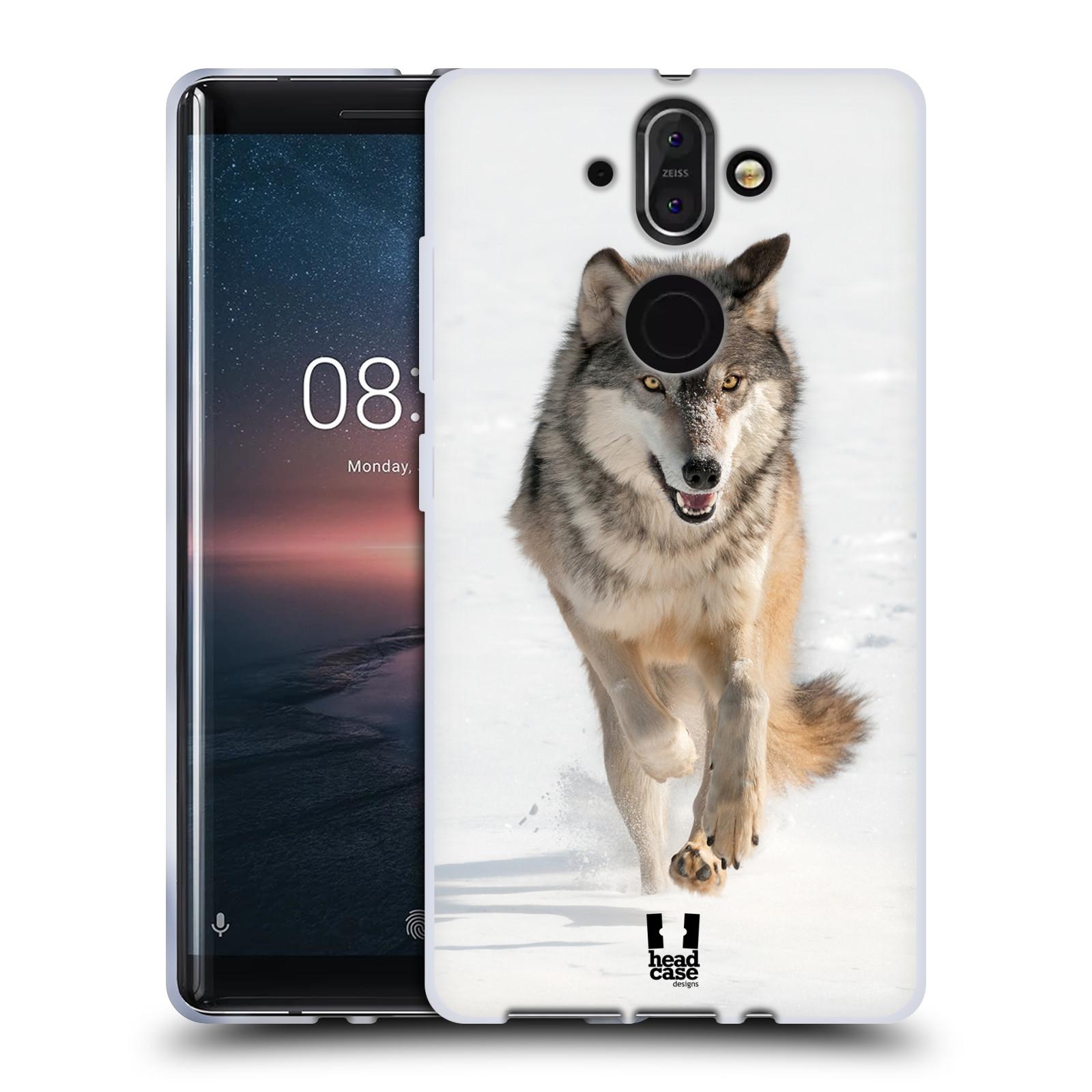 Silikonové pouzdro na mobil Nokia 8 Sirocco - Head Case - DIVOČINA – VLK (Silikonový kryt či obal na mobilní telefon Nokia 8 Sirocco s motivem DIVOČINA – VLK)