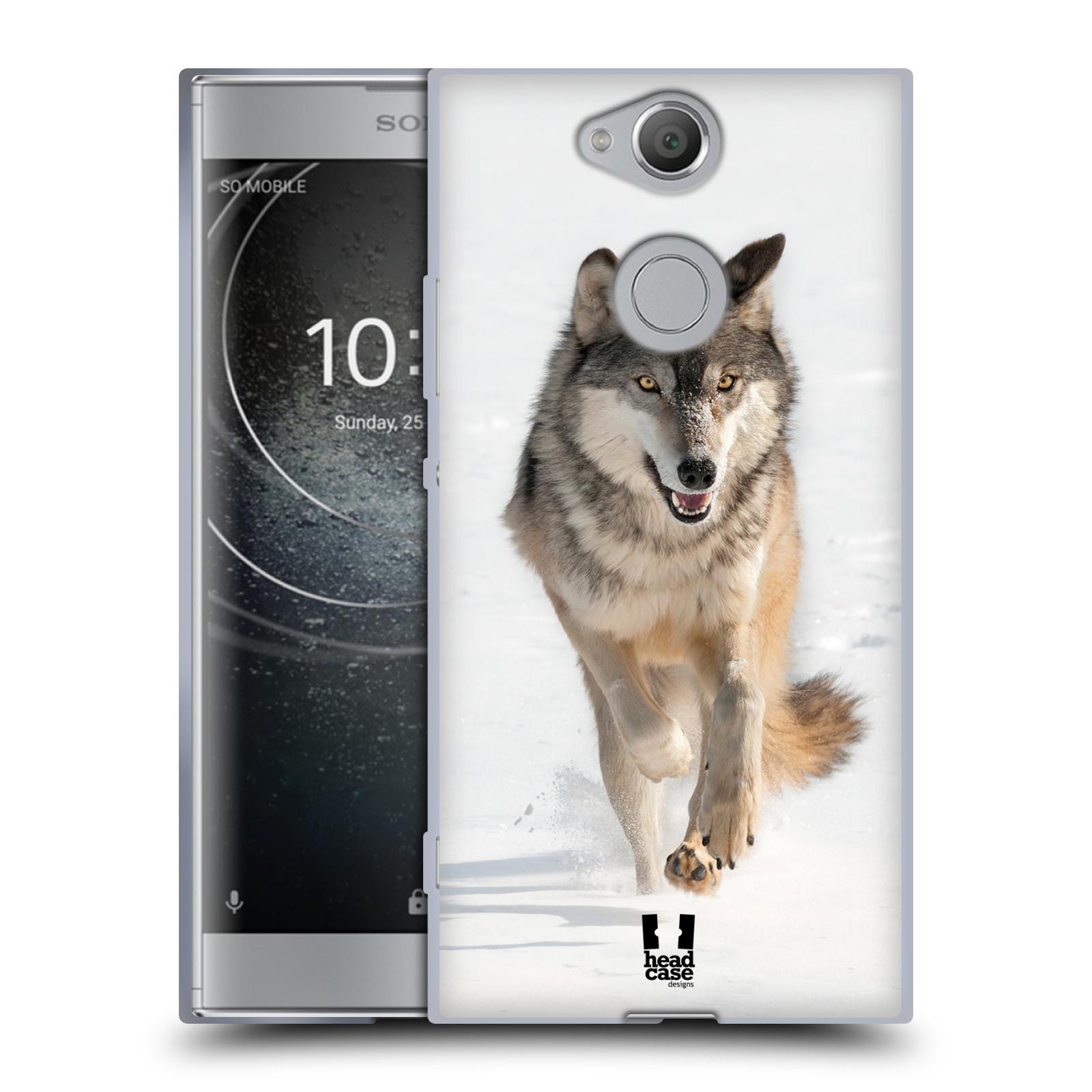 Silikonové pouzdro na mobil Sony Xperia XA2 - Head Case - DIVOČINA – VLK (Silikonový kryt či obal na mobilní telefon Sony Xperia XA2 H4113 s motivem DIVOČINA – VLK)