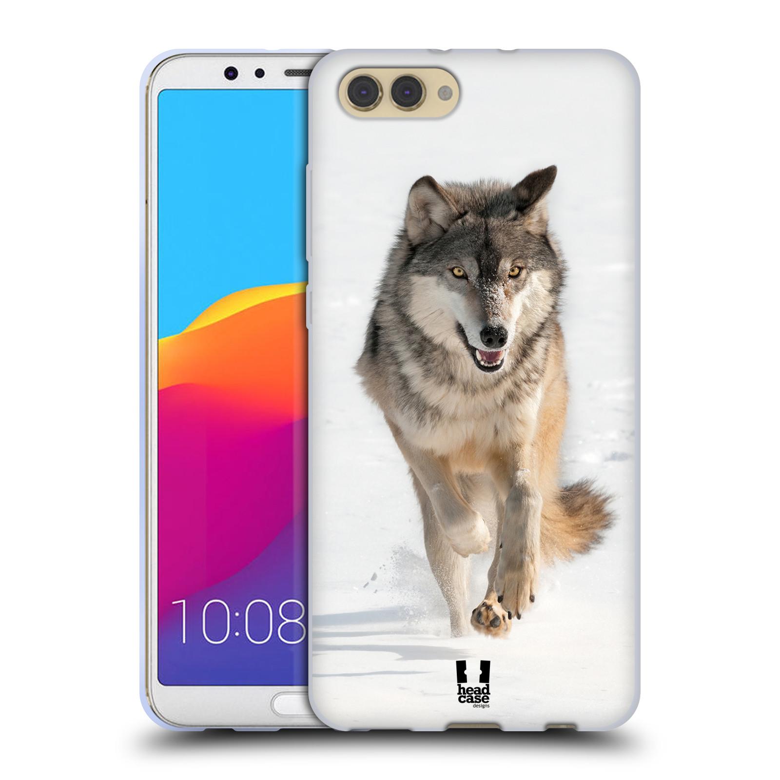 Silikonové pouzdro na mobil Honor View 10 - Head Case - DIVOČINA – VLK (Silikonový kryt či obal na mobilní telefon Honor View 10 s motivem DIVOČINA – VLK)