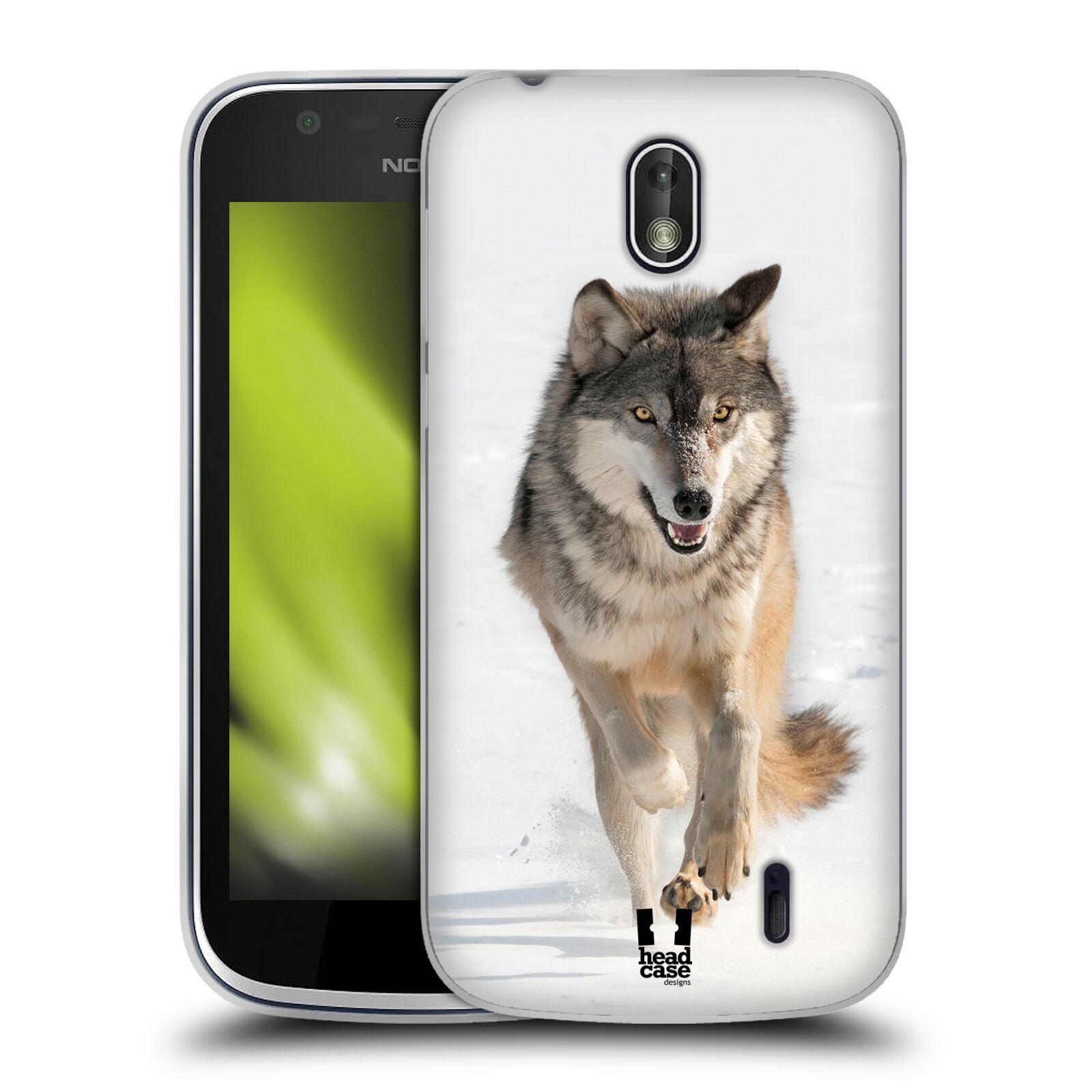 Silikonové pouzdro na mobil Nokia 1 - Head Case - DIVOČINA – VLK (Silikonový kryt či obal na mobilní telefon Nokia 1 Dual SIM s motivem DIVOČINA – VLK)
