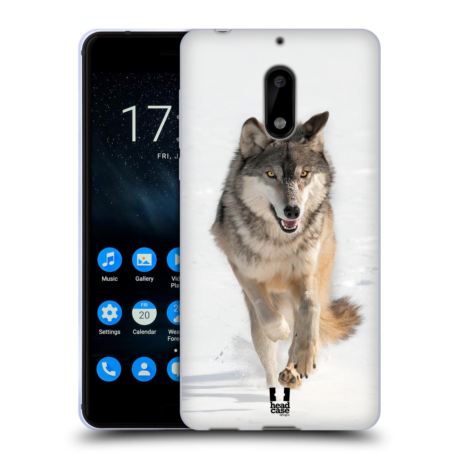 Silikonové pouzdro na mobil Nokia 6 - Head Case - DIVOČINA – VLK (Silikonový kryt či obal na mobilní telefon Nokia 6 s motivem DIVOČINA – VLK)