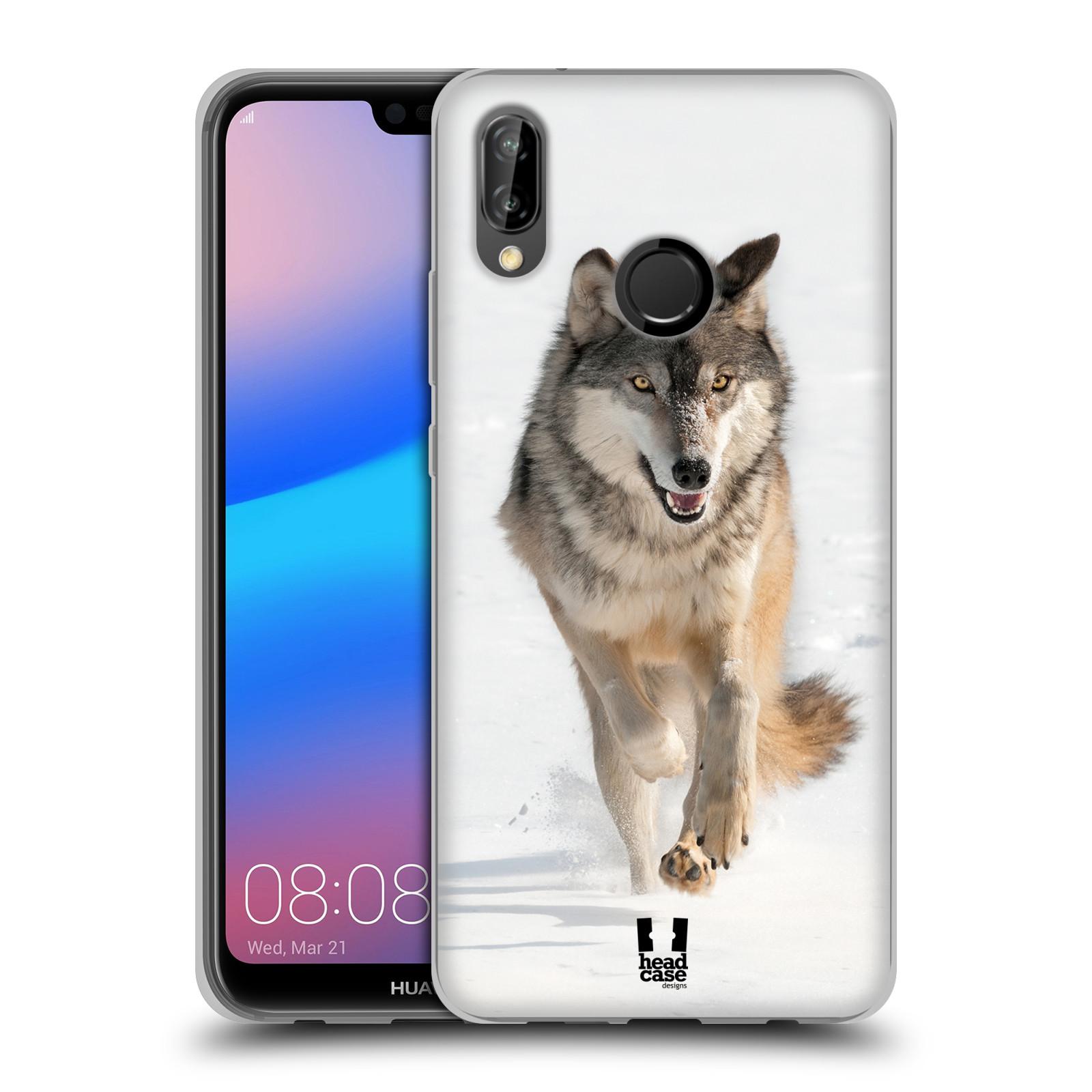 Silikonové pouzdro na mobil Huawei P20 Lite - Head Case - DIVOČINA – VLK (Silikonový kryt či obal na mobilní telefon Huawei P20 Lite Dual SIM s motivem DIVOČINA – VLK)