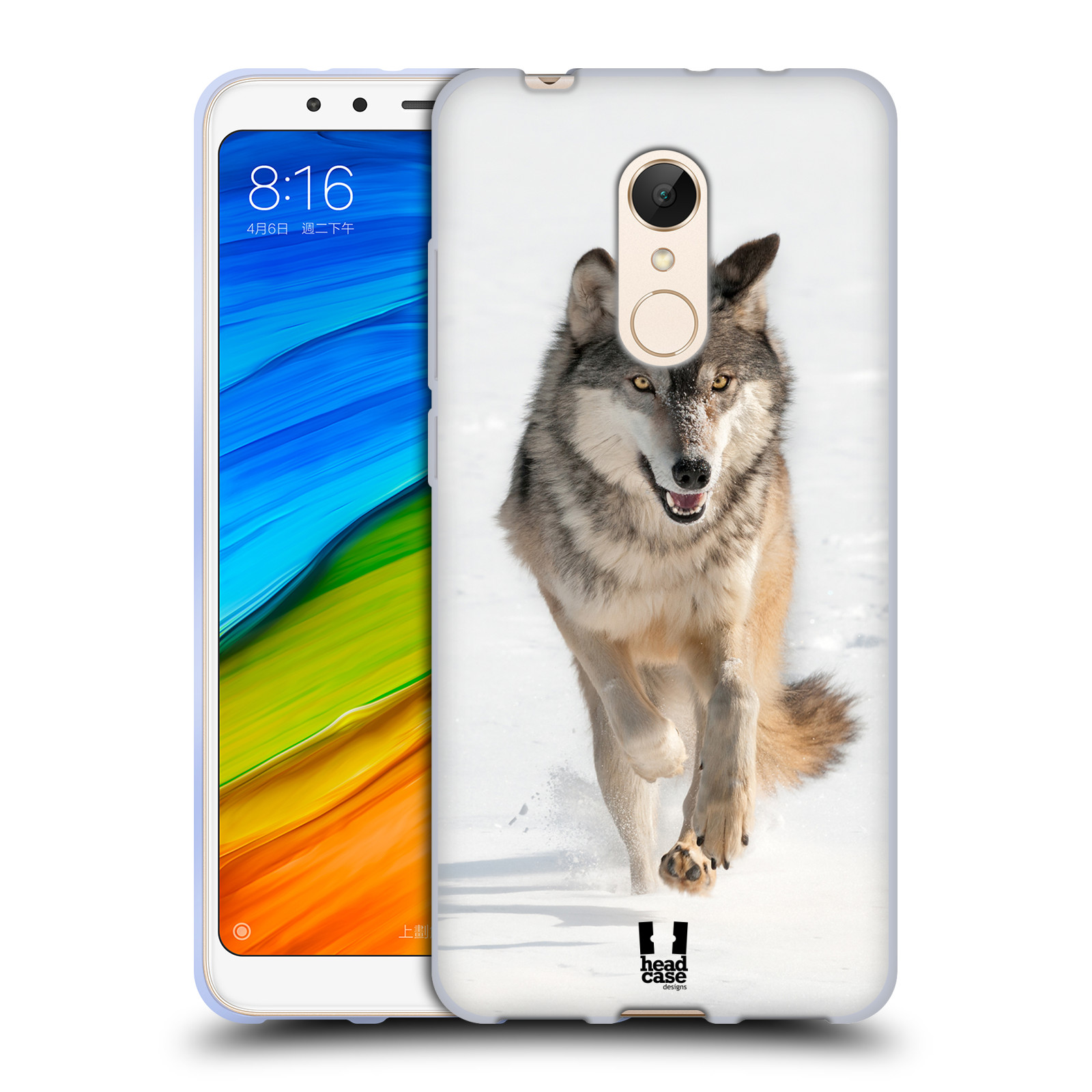 Silikonové pouzdro na mobil Xiaomi Redmi 5 - Head Case - DIVOČINA – VLK (Silikonový kryt či obal na mobilní telefon Xiaomi Redmi 5 s motivem DIVOČINA – VLK)