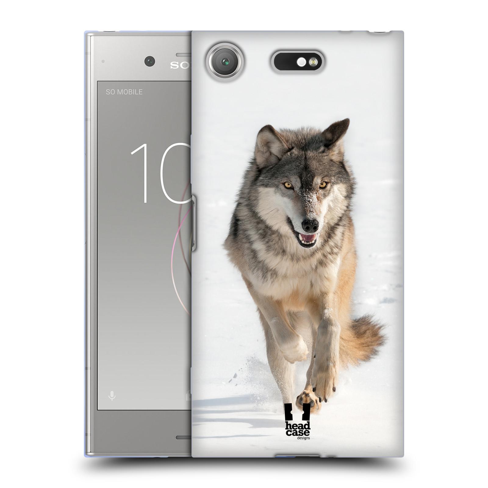 Silikonové pouzdro na mobil Sony Xperia XZ1 Compact - Head Case - DIVOČINA – VLK (Silikonový kryt či obal na mobilní telefon Sony Xperia XZ1 Compact G8441 s motivem DIVOČINA – VLK)