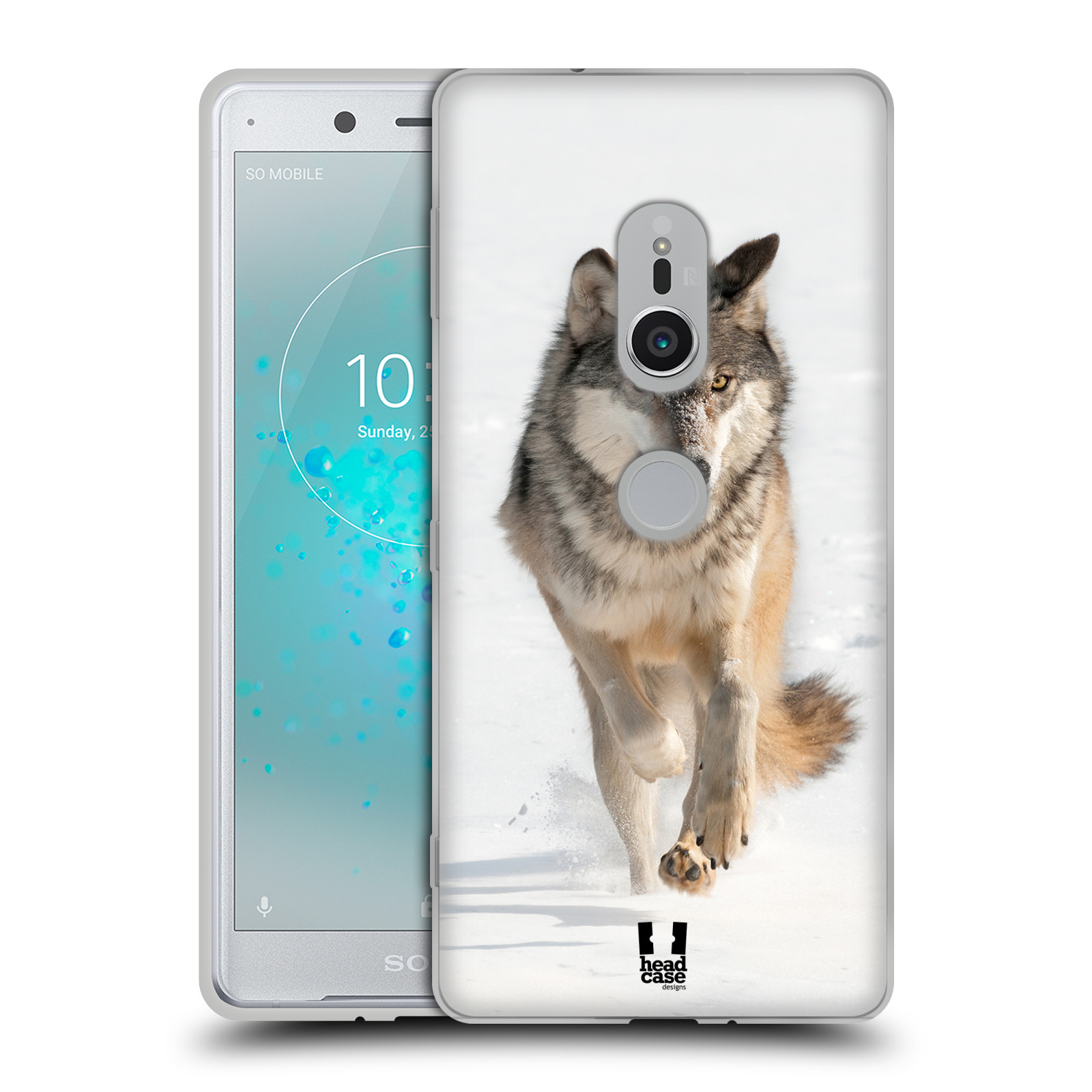 Silikonové pouzdro na mobil Sony Xperia XZ2 - Head Case - DIVOČINA – VLK (Silikonový kryt či obal na mobilní telefon Sony Xperia XZ2 H8266 Dual SIM s motivem DIVOČINA – VLK)