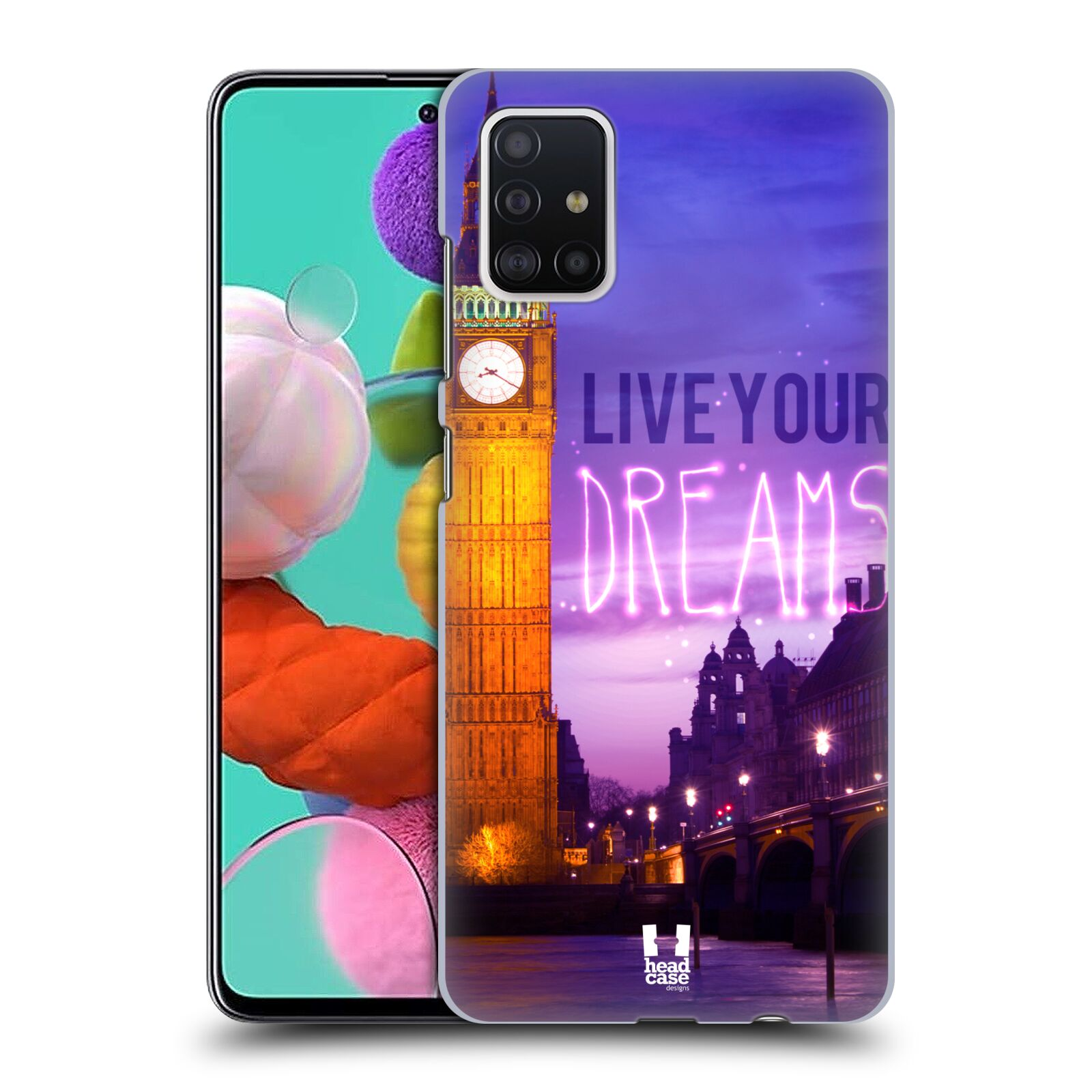 Plastové pouzdro na mobil Samsung Galaxy A51 - Head Case - DREAMS