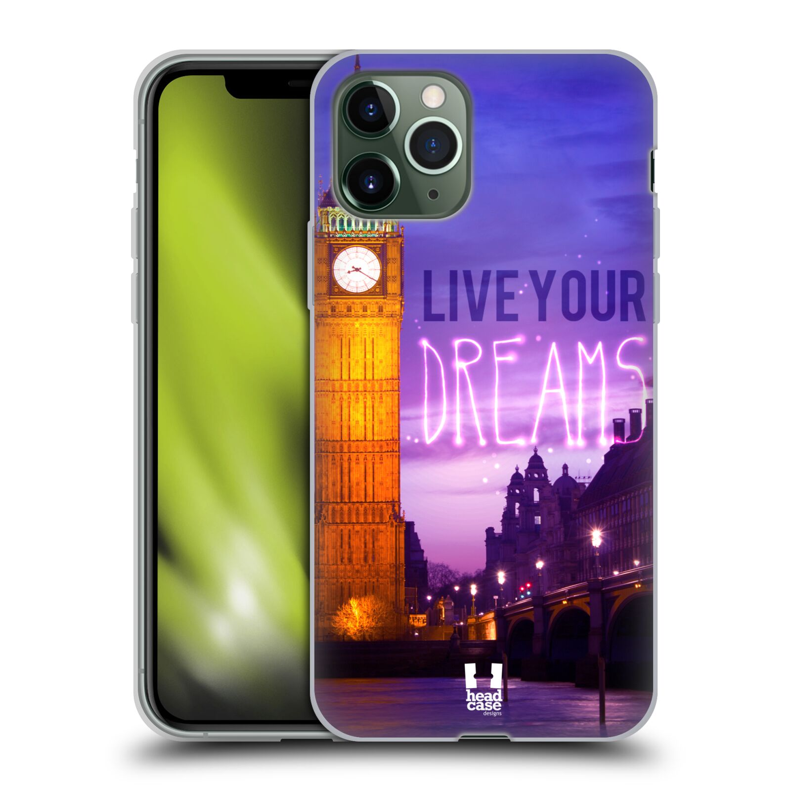 iphone xs original kryt - Silikonové pouzdro na mobil Apple iPhone 11 Pro - Head Case - DREAMS