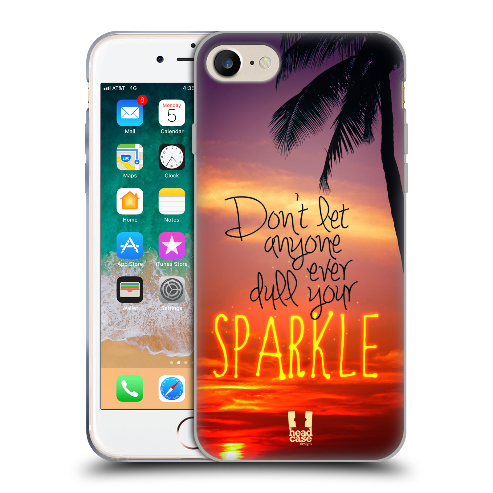 Silikonové pouzdro na mobil Apple iPhone SE (2020) - Head Case - SPARKLE