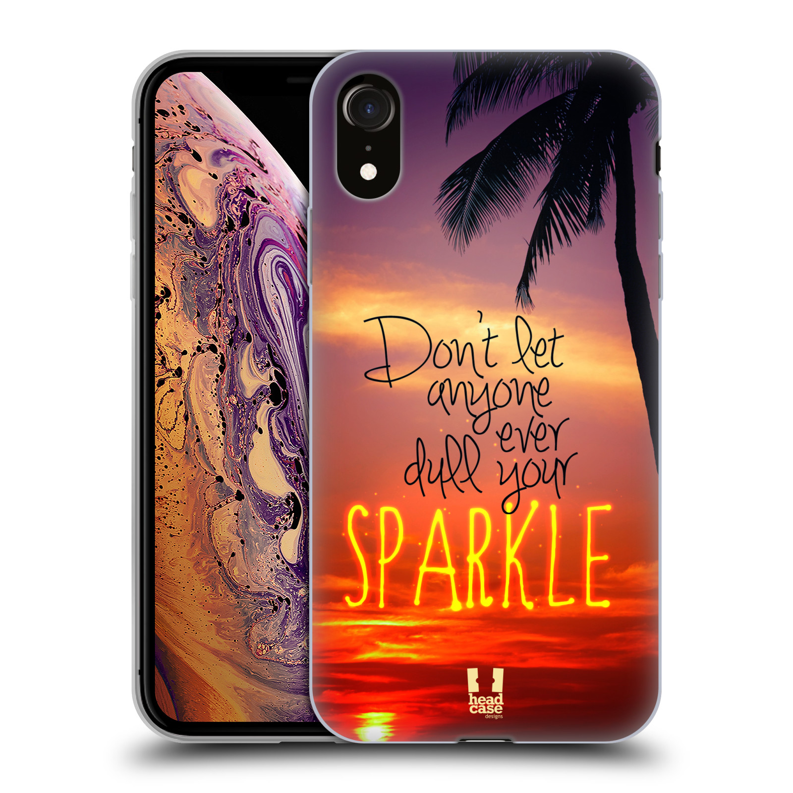 Silikonové pouzdro na mobil Apple iPhone XR - Head Case - SPARKLE