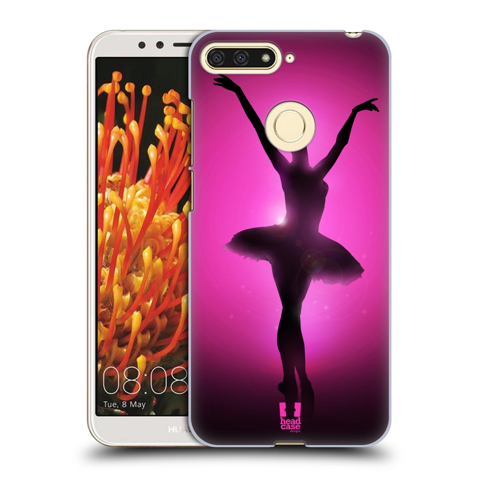 Plastové pouzdro na mobil Huawei Y6 Prime 2018 - Head Case - BALERÍNA SILUETA