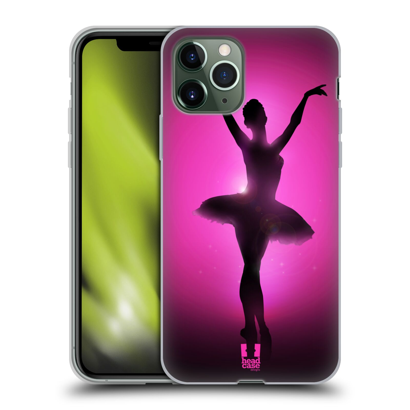 apple iphone xr kryt - Silikonové pouzdro na mobil Apple iPhone 11 Pro - Head Case - BALERÍNA SILUETA